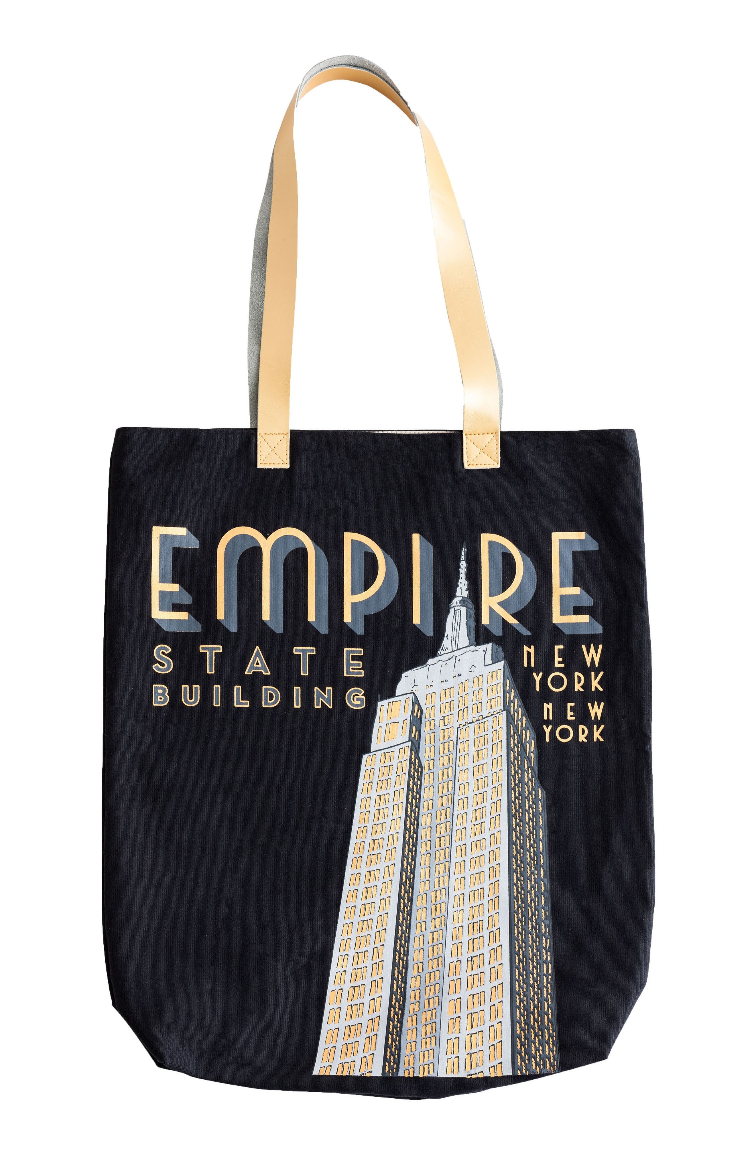 Graphic Tote Bag,                             Main thumbnail 1, color,                             Empire State Building