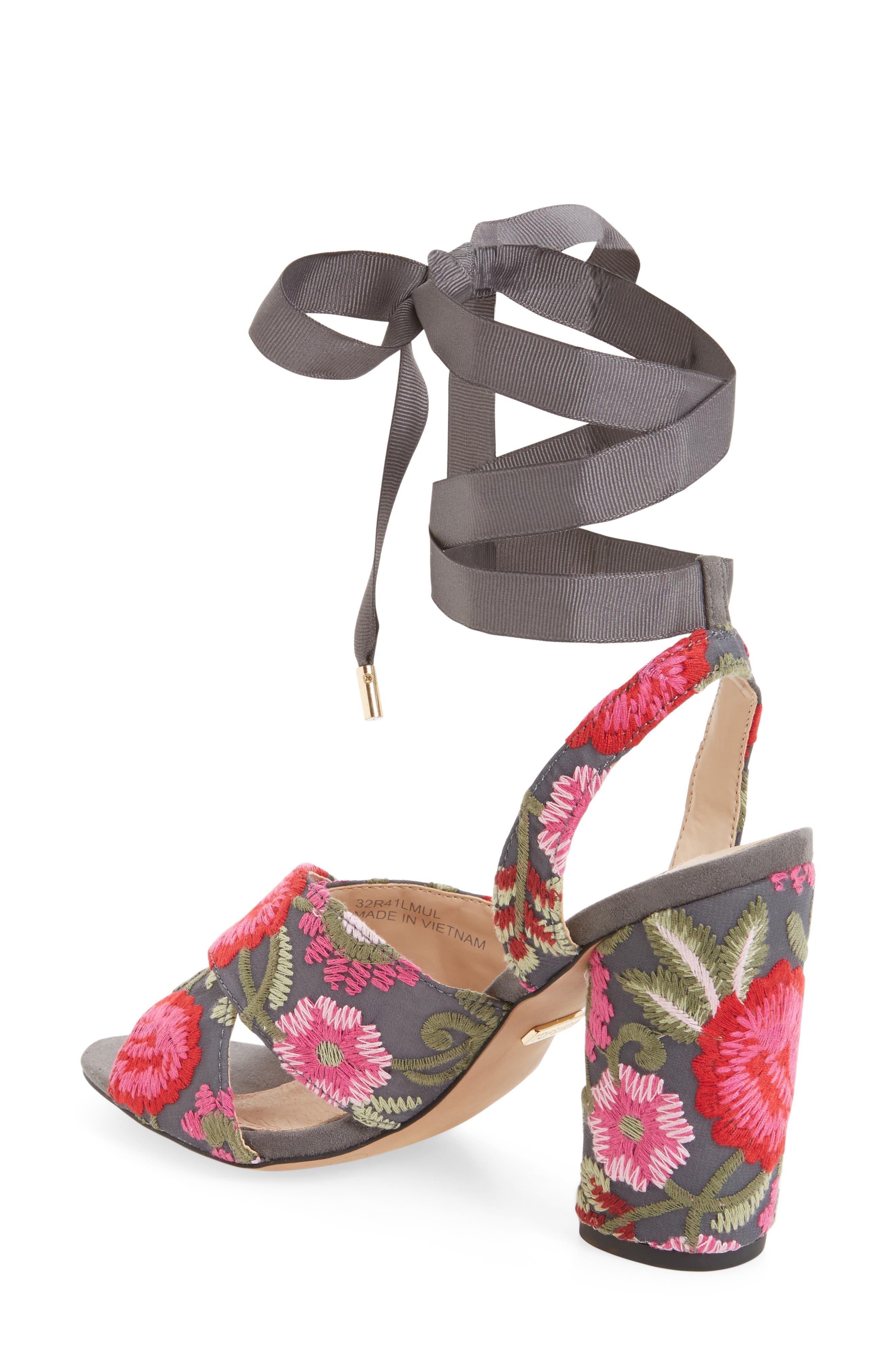 Reena Embroidered Sandal,                             Alternate thumbnail 2, color,                             Pink Multi
