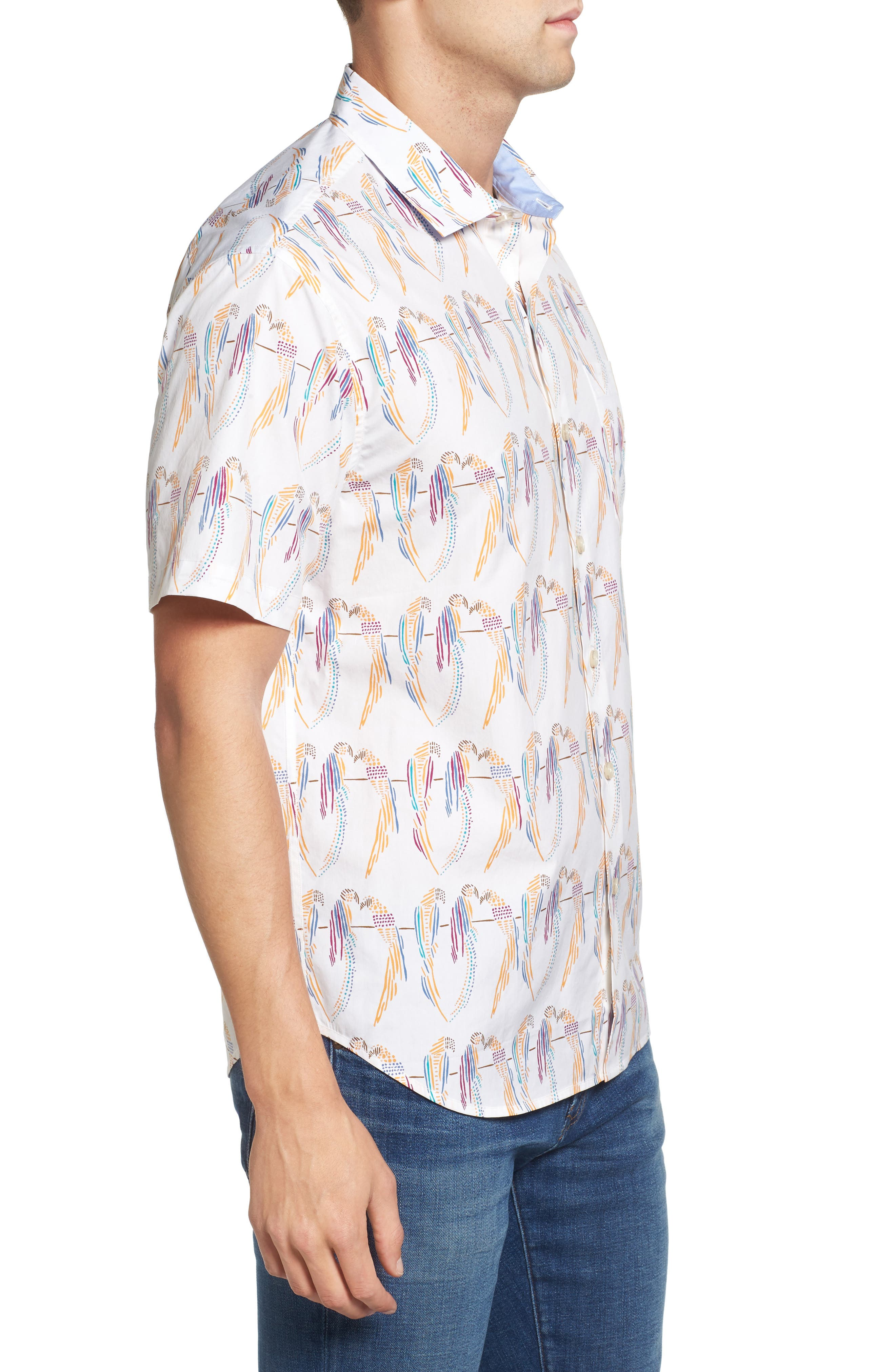 Alternate Image 3  - Tommy Bahama Meet the Parrots Standard Fit Sport Shirt