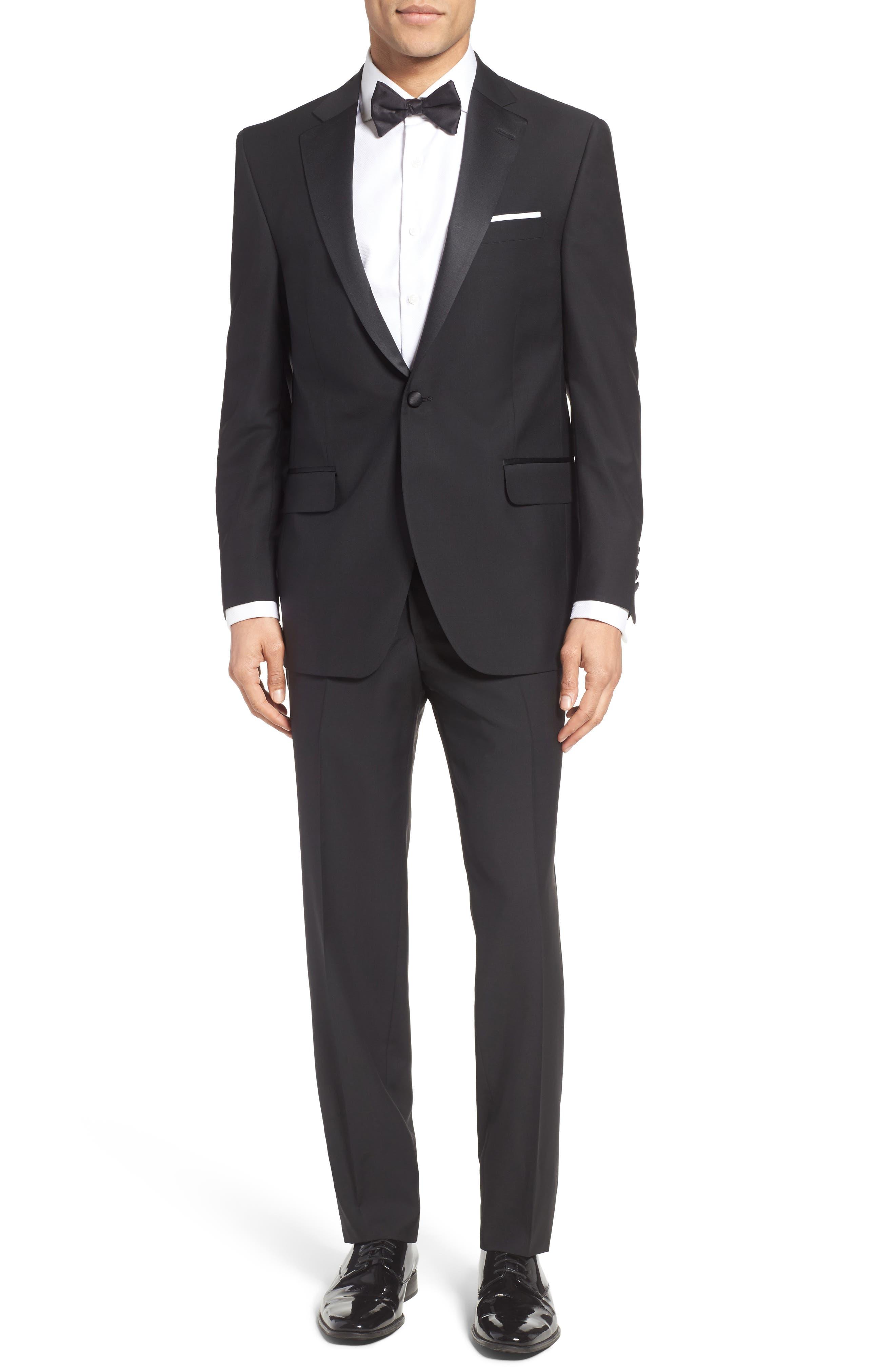 Peter Millar Classic Fit Wool & Mohair Tuxedo