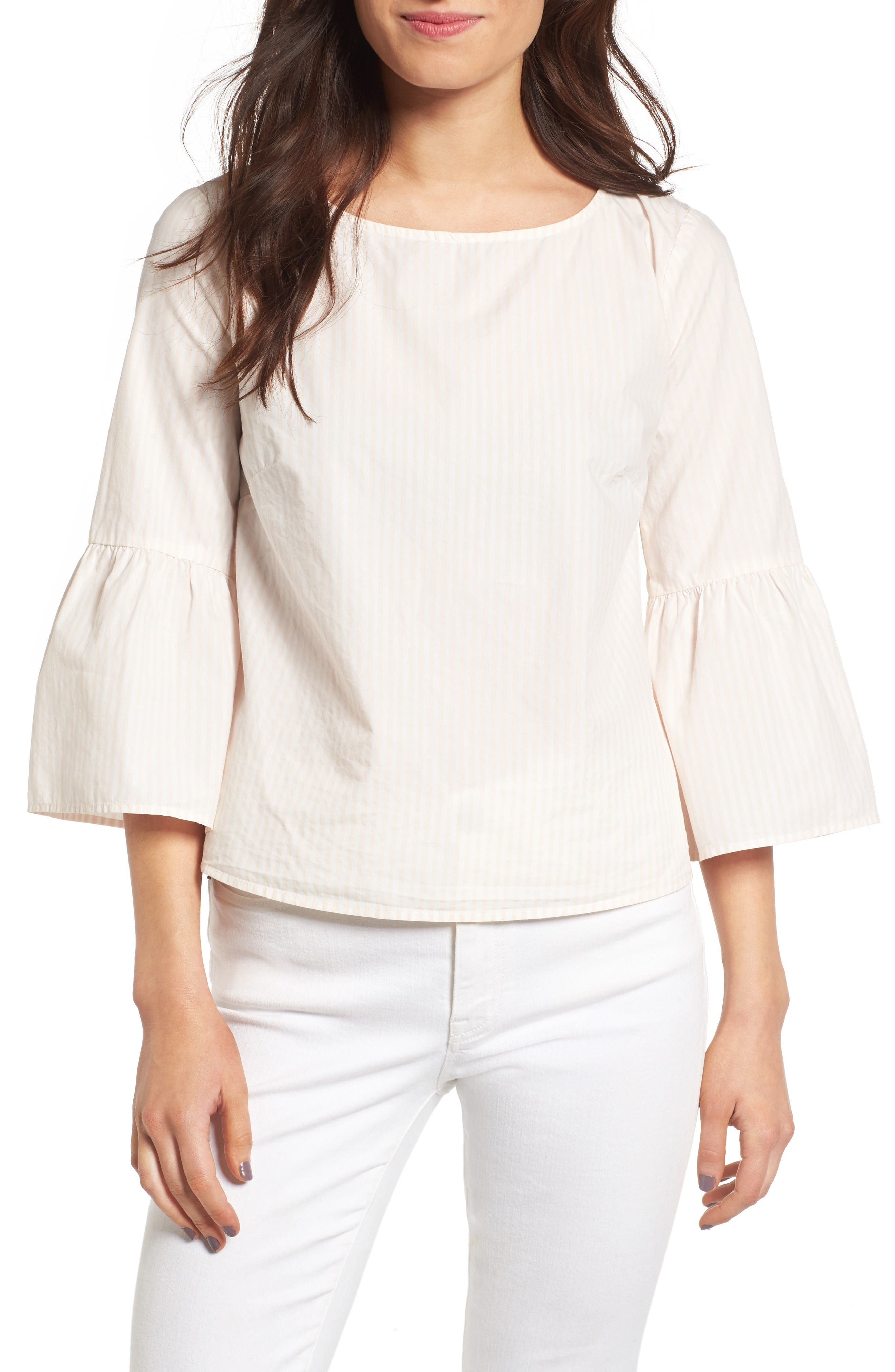 Alternate Image 1 Selected - Madewell Bell Sleeve Cotton Top