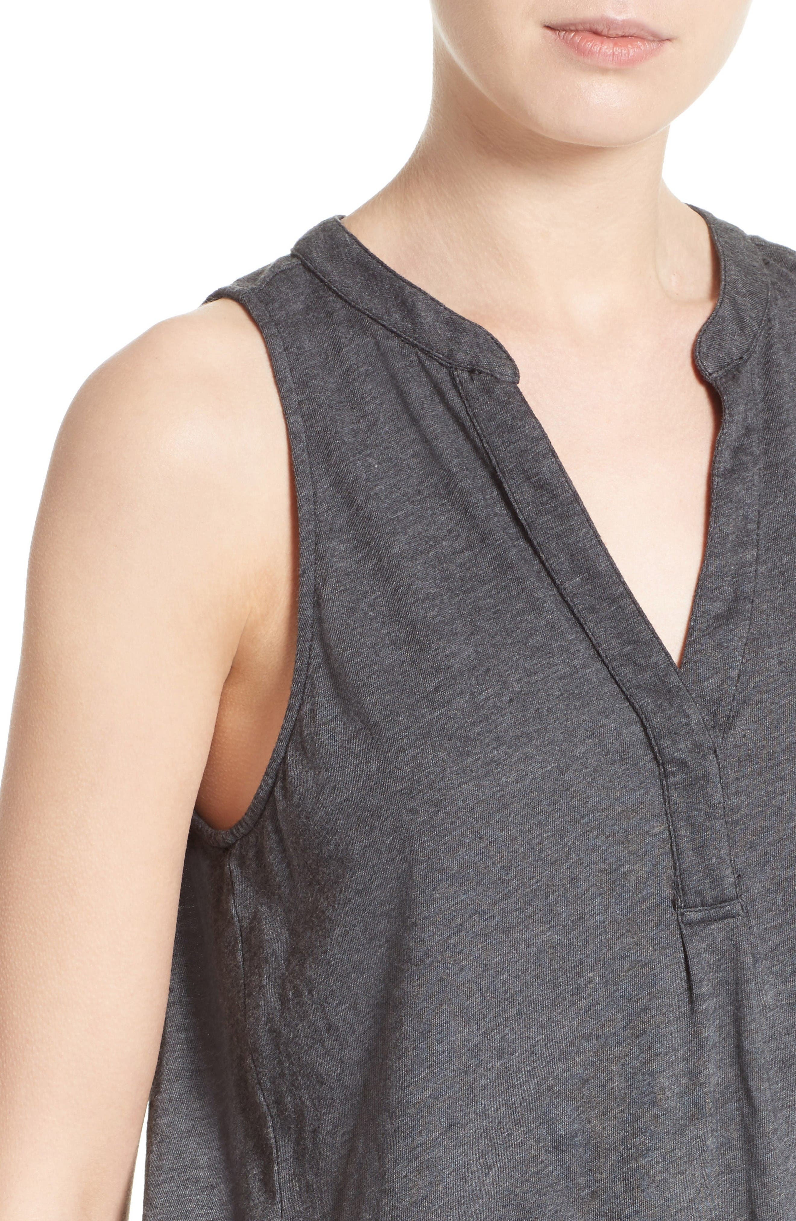 Alternate Image 4  - Soft Joie Carley Split Neck Top