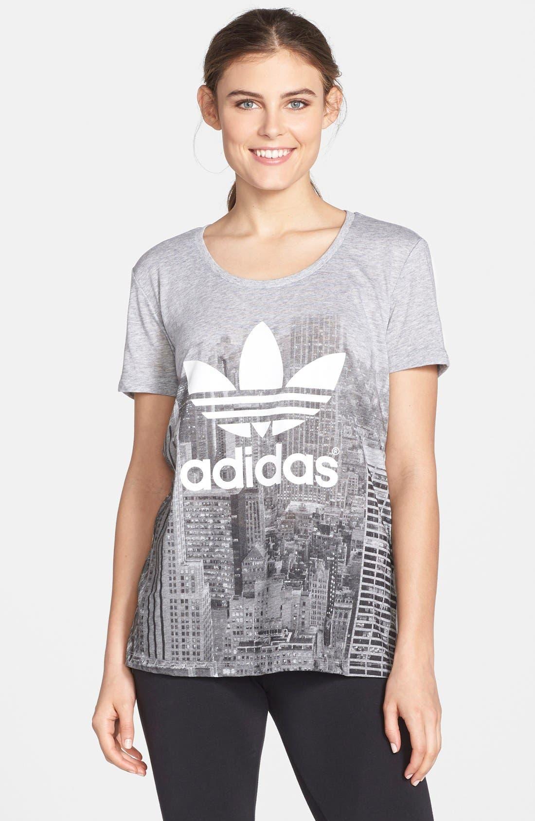 Alternate Image 1 Selected - adidas Originals Skyline Print Tee
