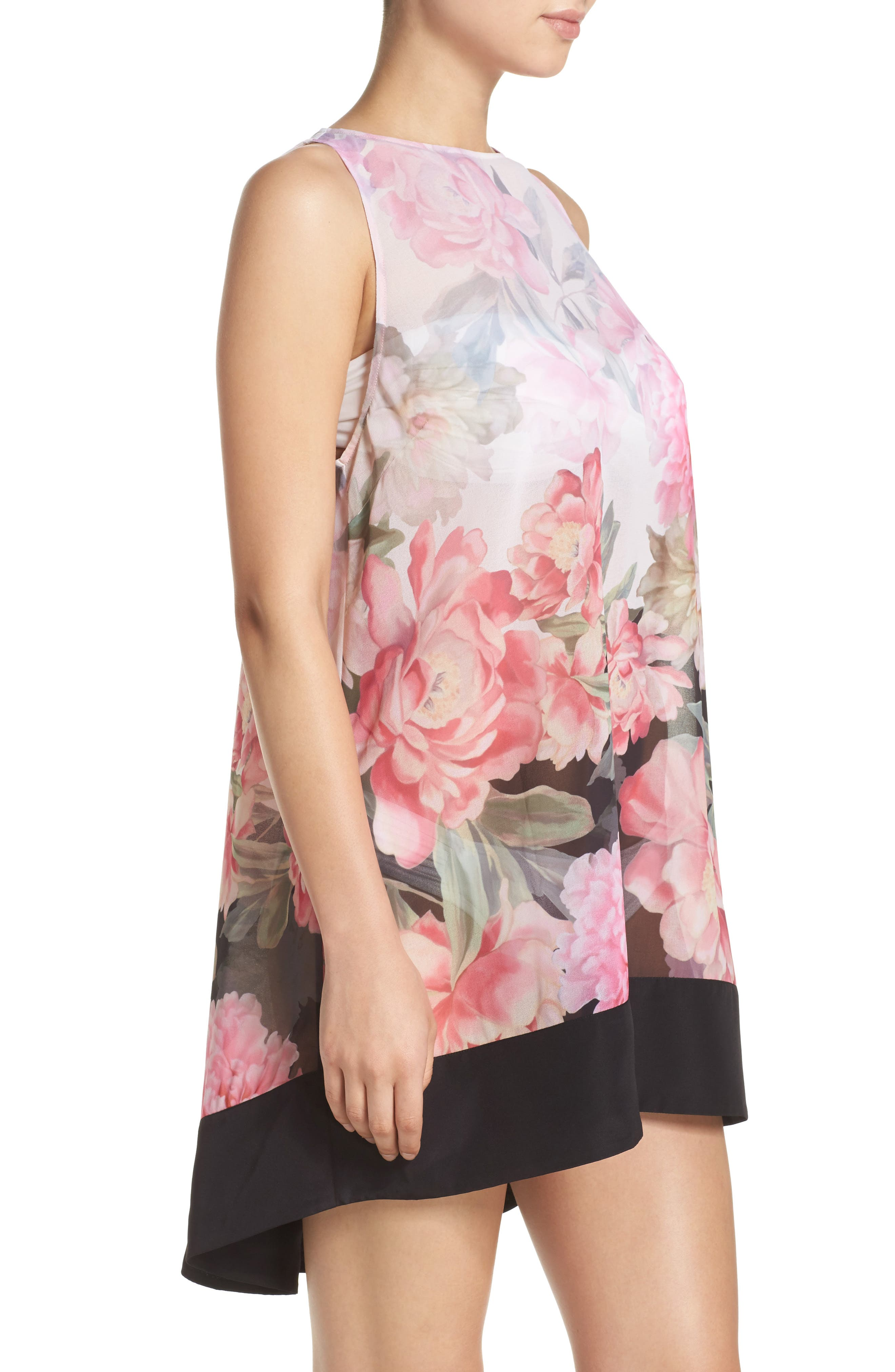Painted Posie Cover-Up Dress,                             Alternate thumbnail 3, color,                             Baby Pink