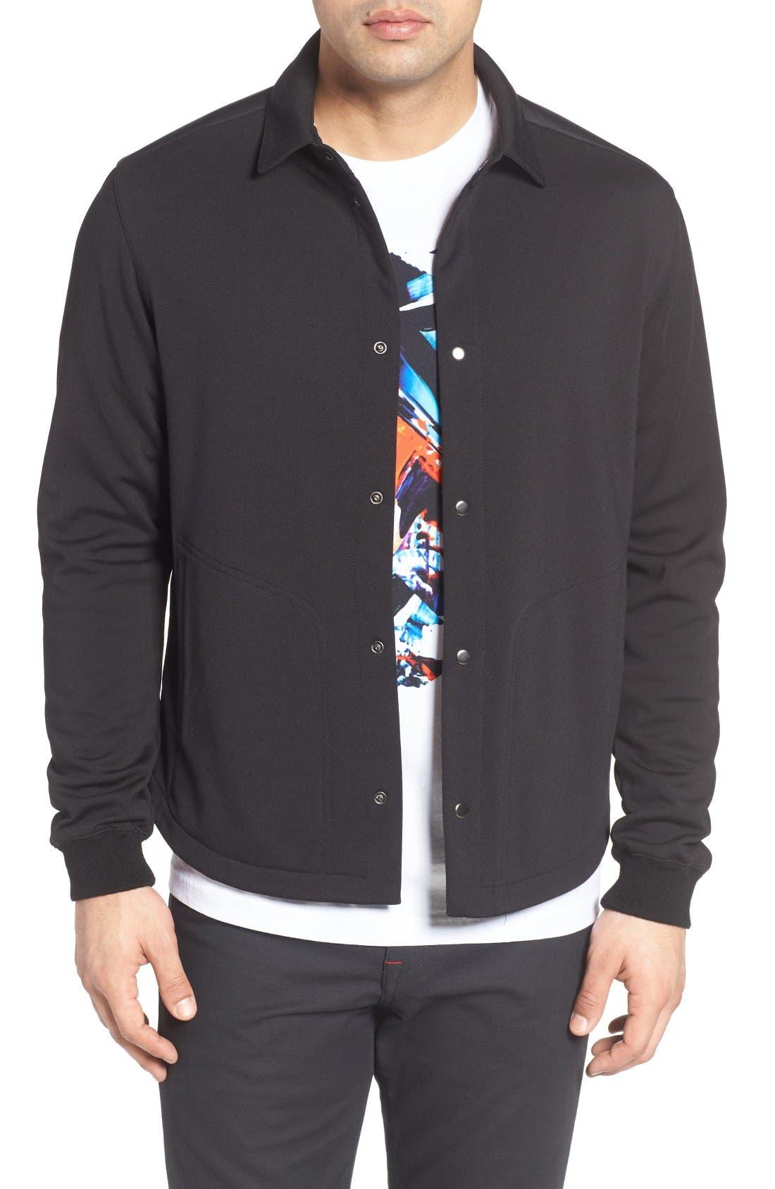 Snap Jacket,                             Main thumbnail 1, color,                             Black