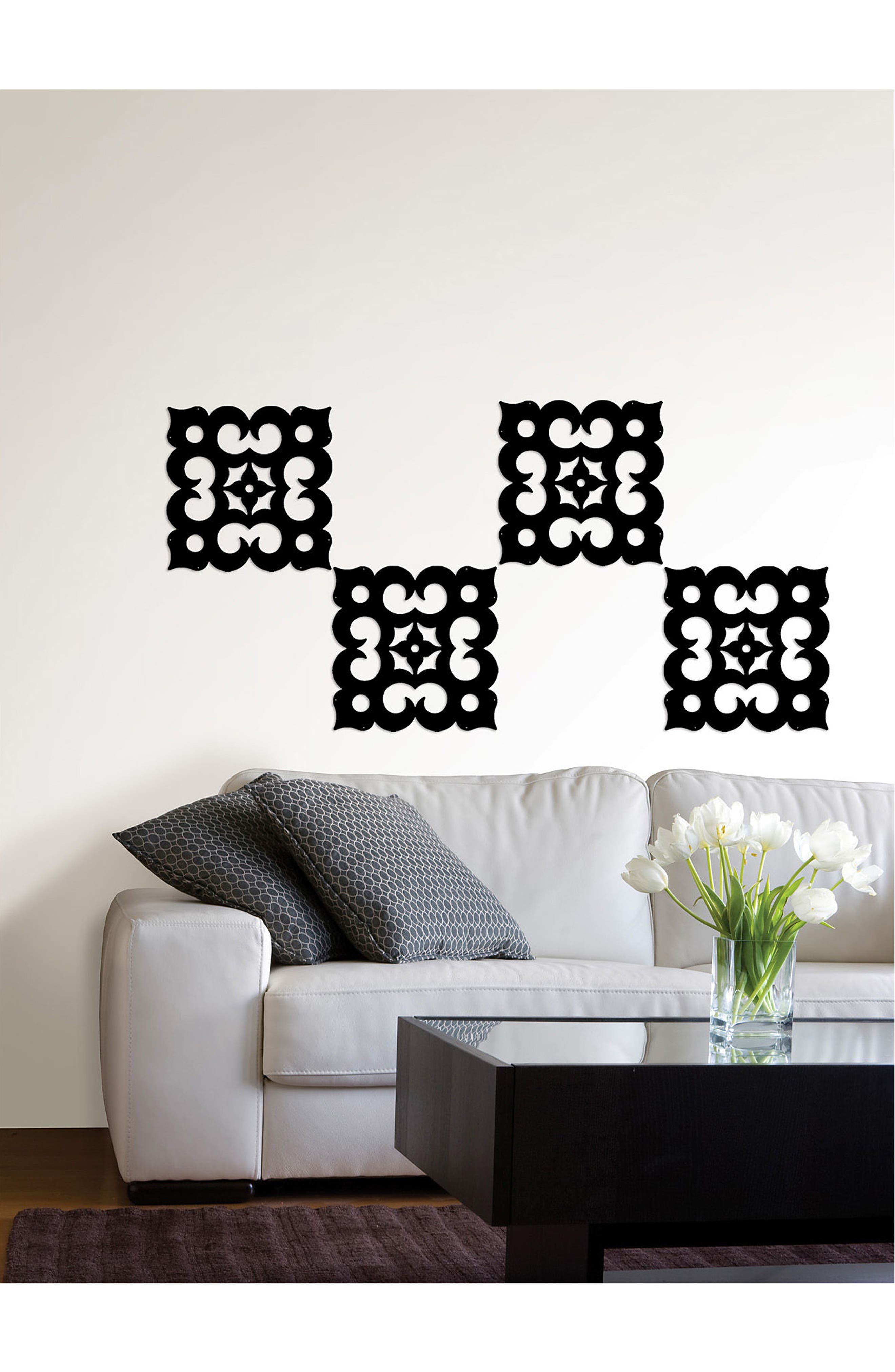 Casbah Set of 8 Room Panels,                             Alternate thumbnail 3, color,                             Black