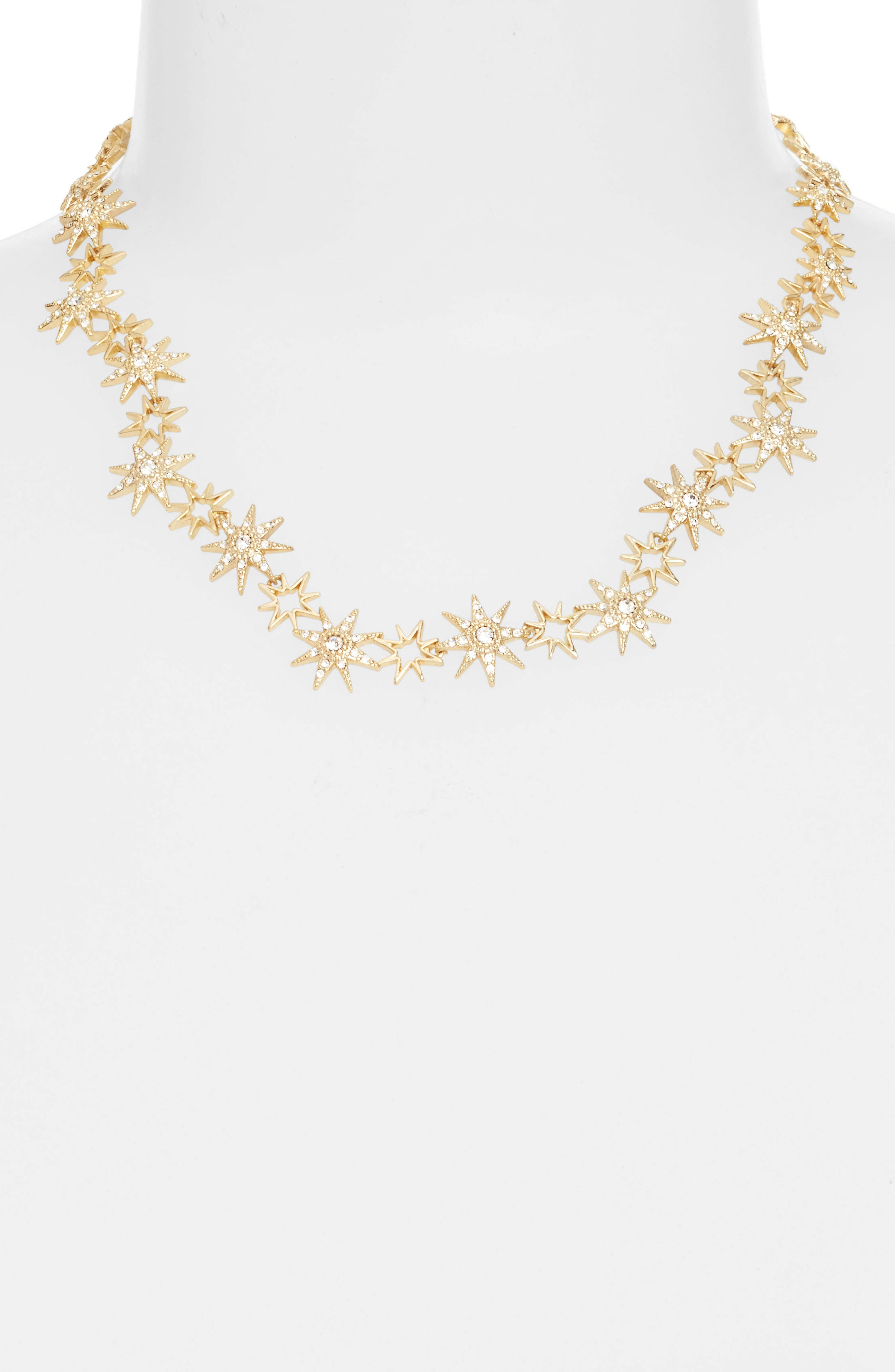 Star Collar Necklace,                             Alternate thumbnail 2, color,                             Gold
