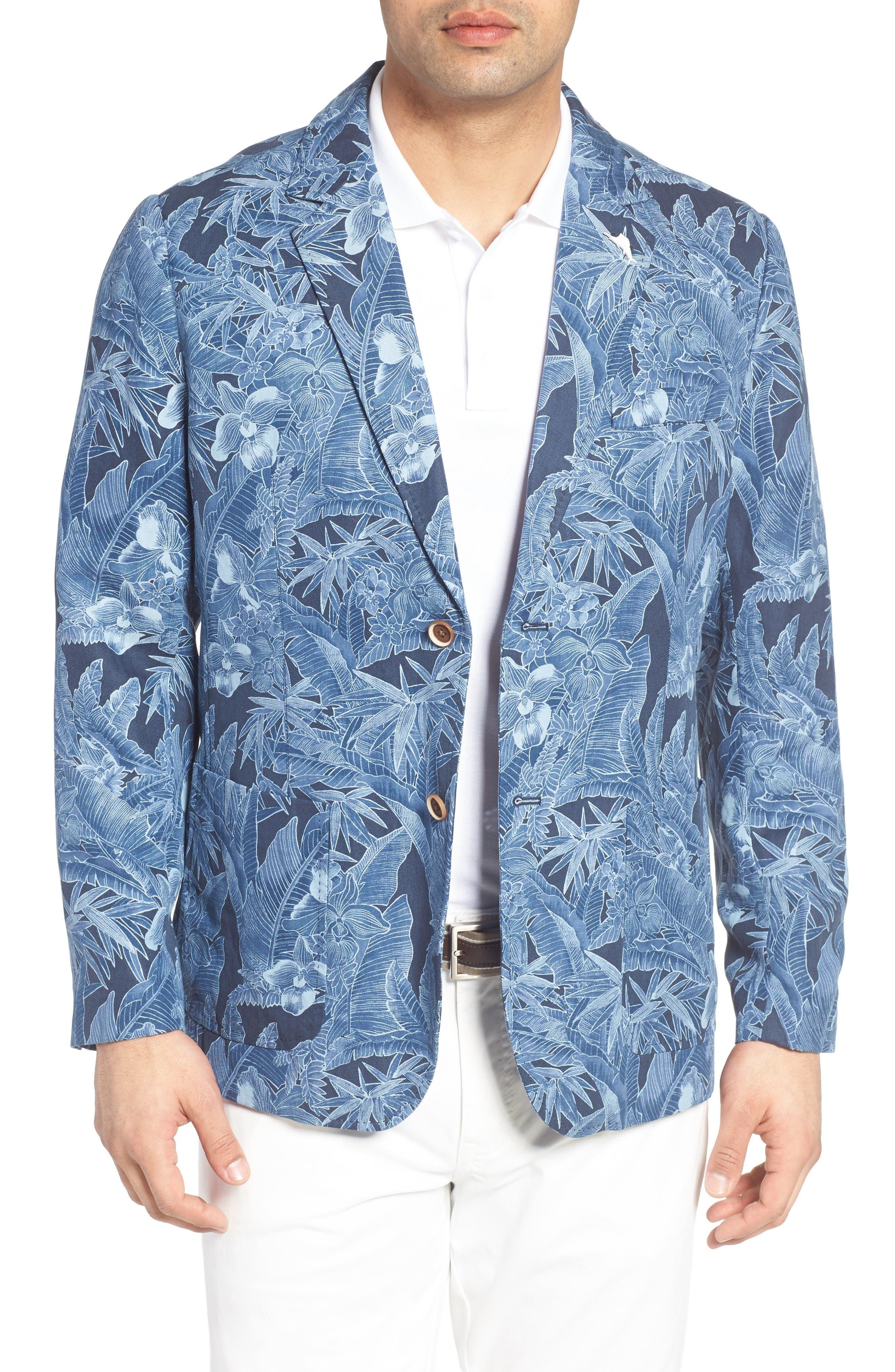 Tommy Bahama Oasis Blooms Regular Fit Silk & Linen Blazer