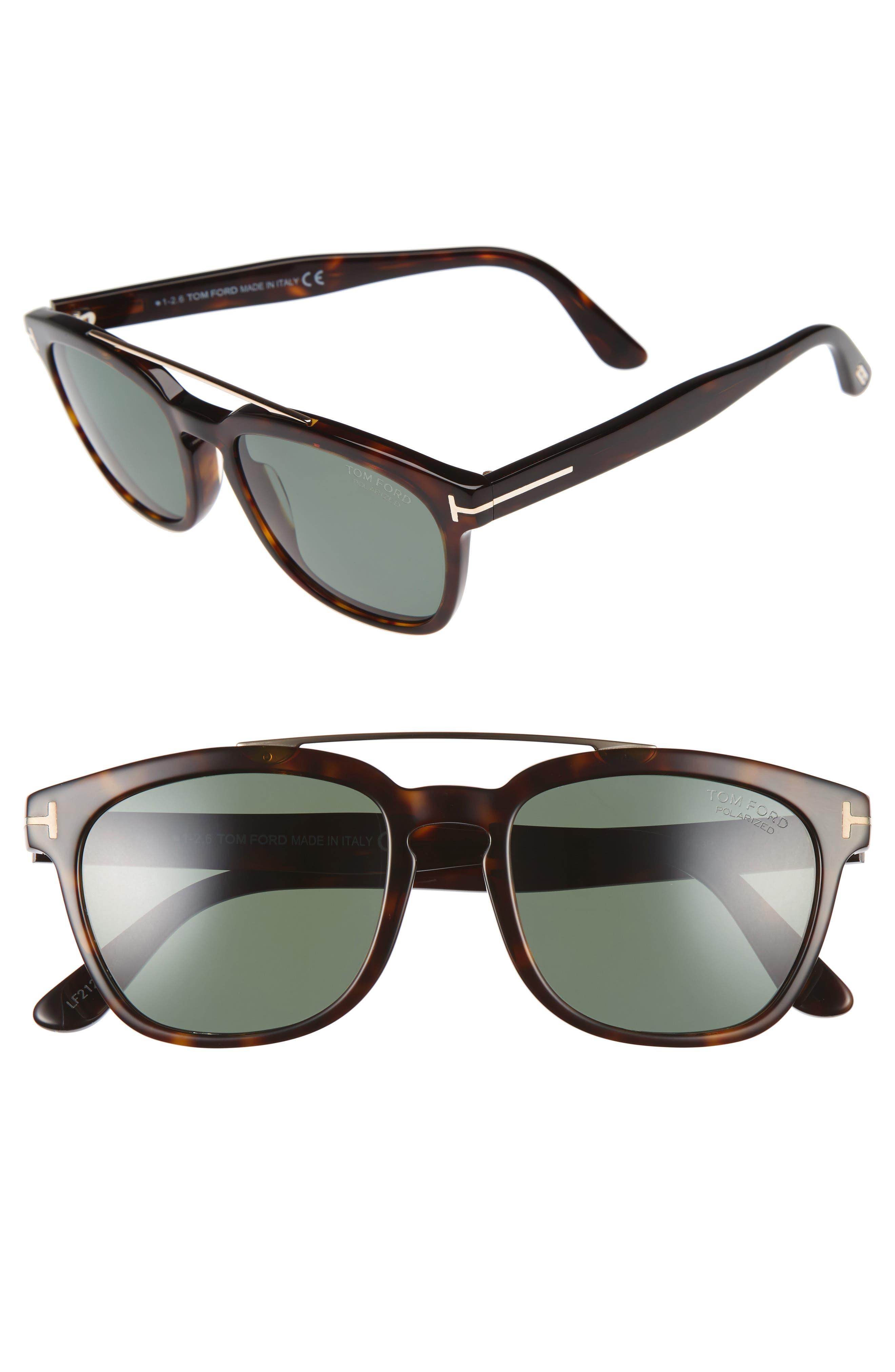TOM FORD Holt 54mm Polarized Sunglasses