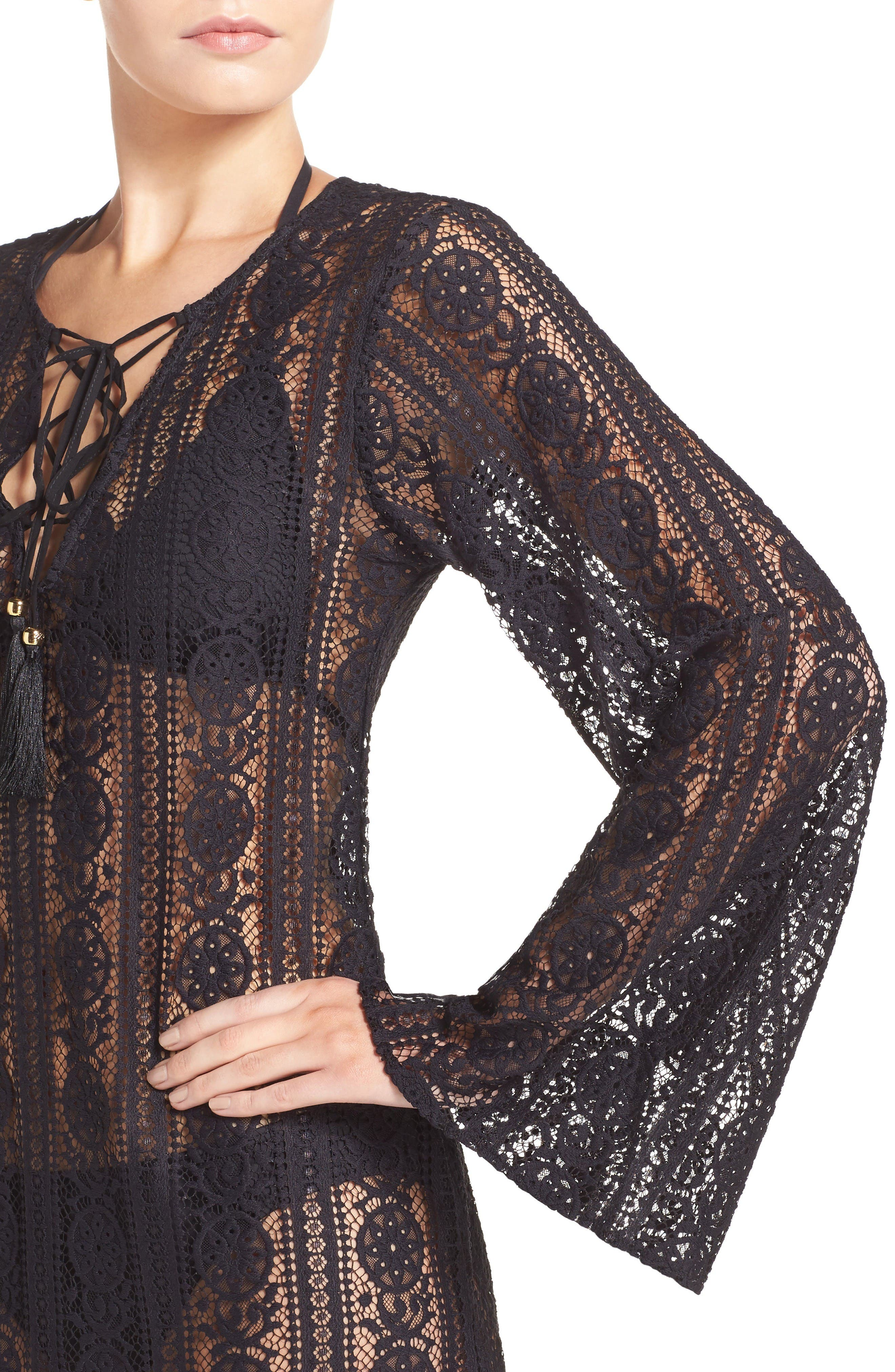 Ariana Cover-Up Tunic,                             Alternate thumbnail 4, color,                             Midnight