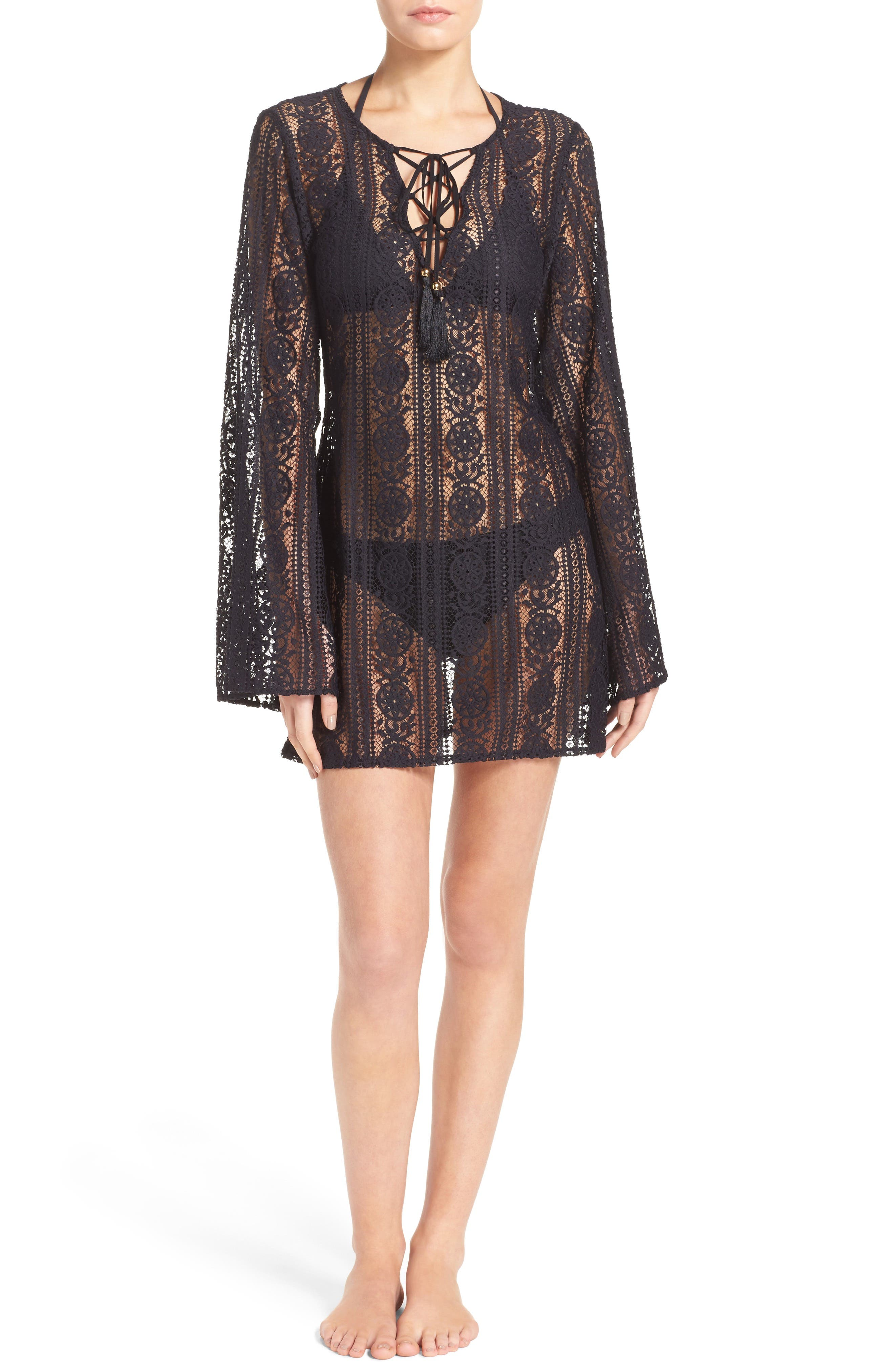 Ariana Cover-Up Tunic,                         Main,                         color, Midnight