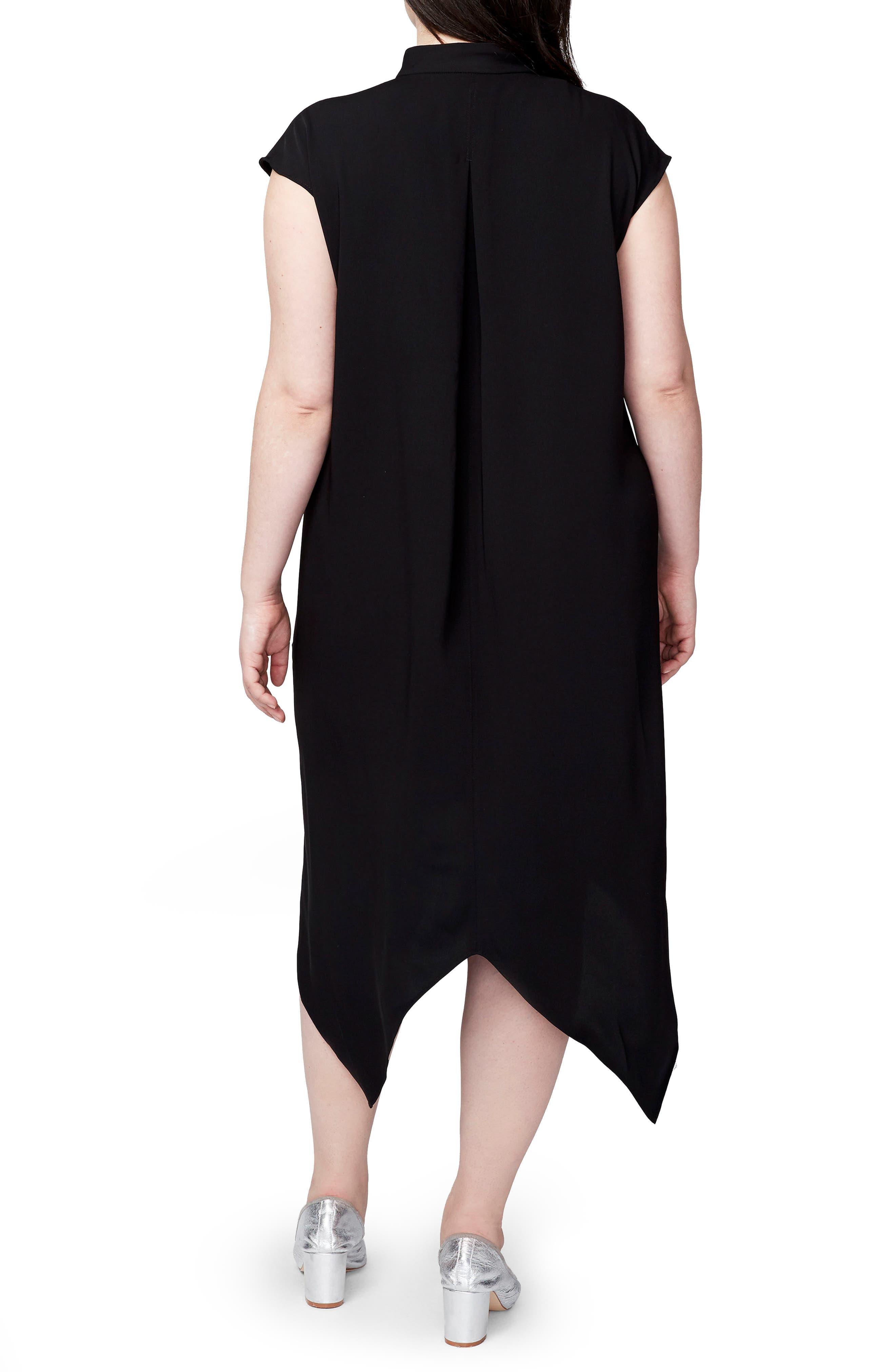 Alternate Image 2  - RACHEL Rachel Roy Harper Handkerchief Hem Dress (Plus Size)
