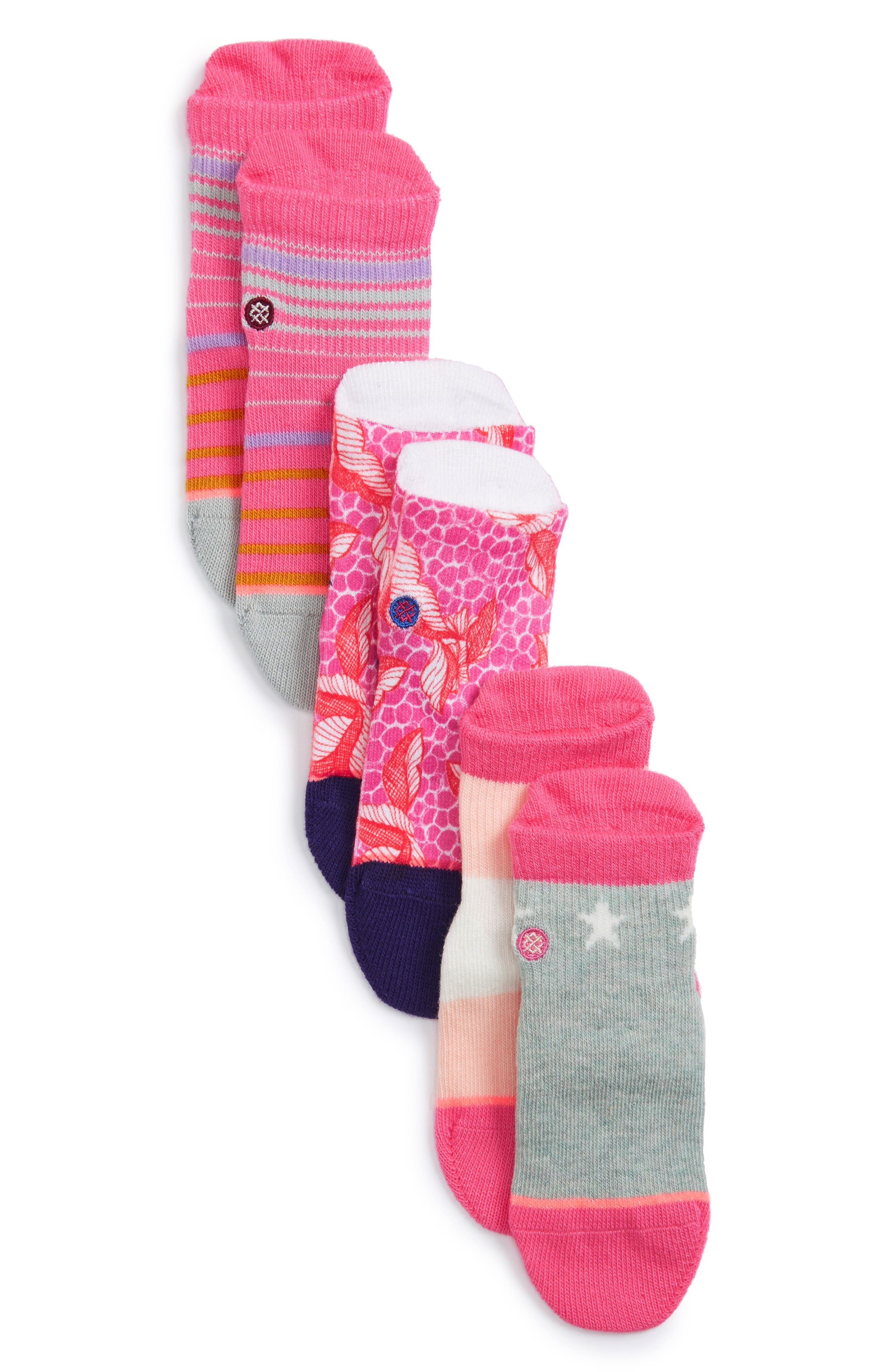 Stance Purdy Assorted 3-Pack Socks (Baby)