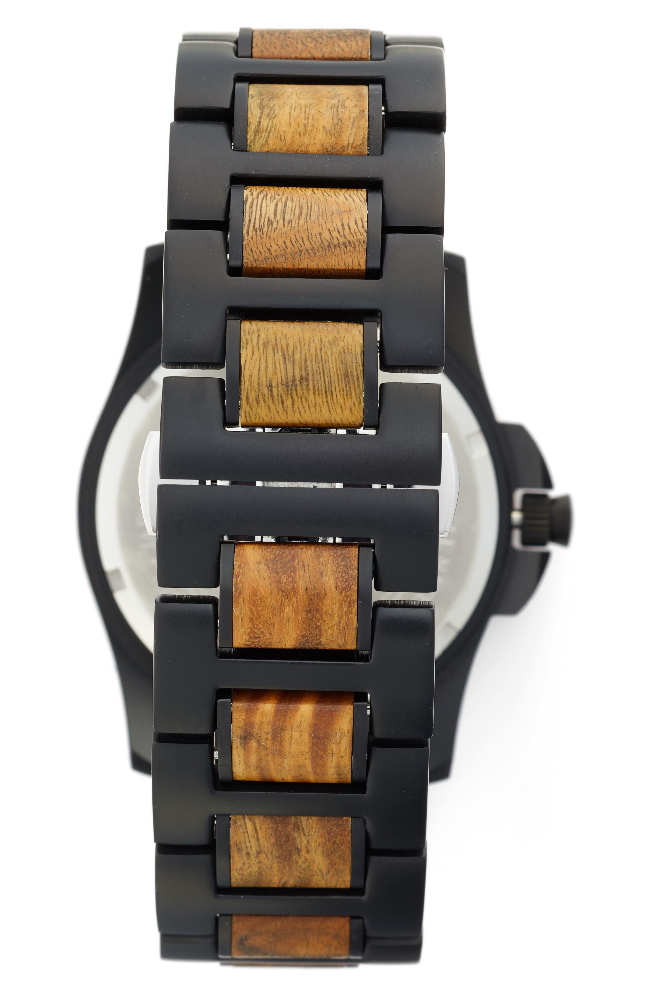 The Classic Bracelet Watch, 43mm,                             Alternate thumbnail 2, color,                             Vera Wood/ Matte Black