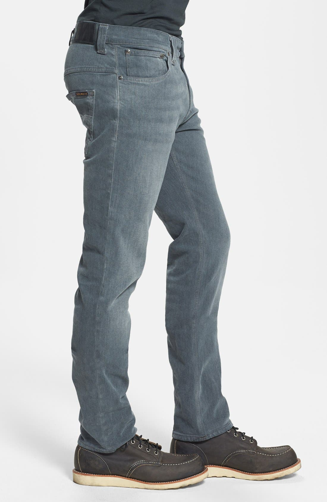 Alternate Image 3  - Nudie Jeans 'Thin Finn' Skinny Fit Jeans (Organic Lighter Shade)