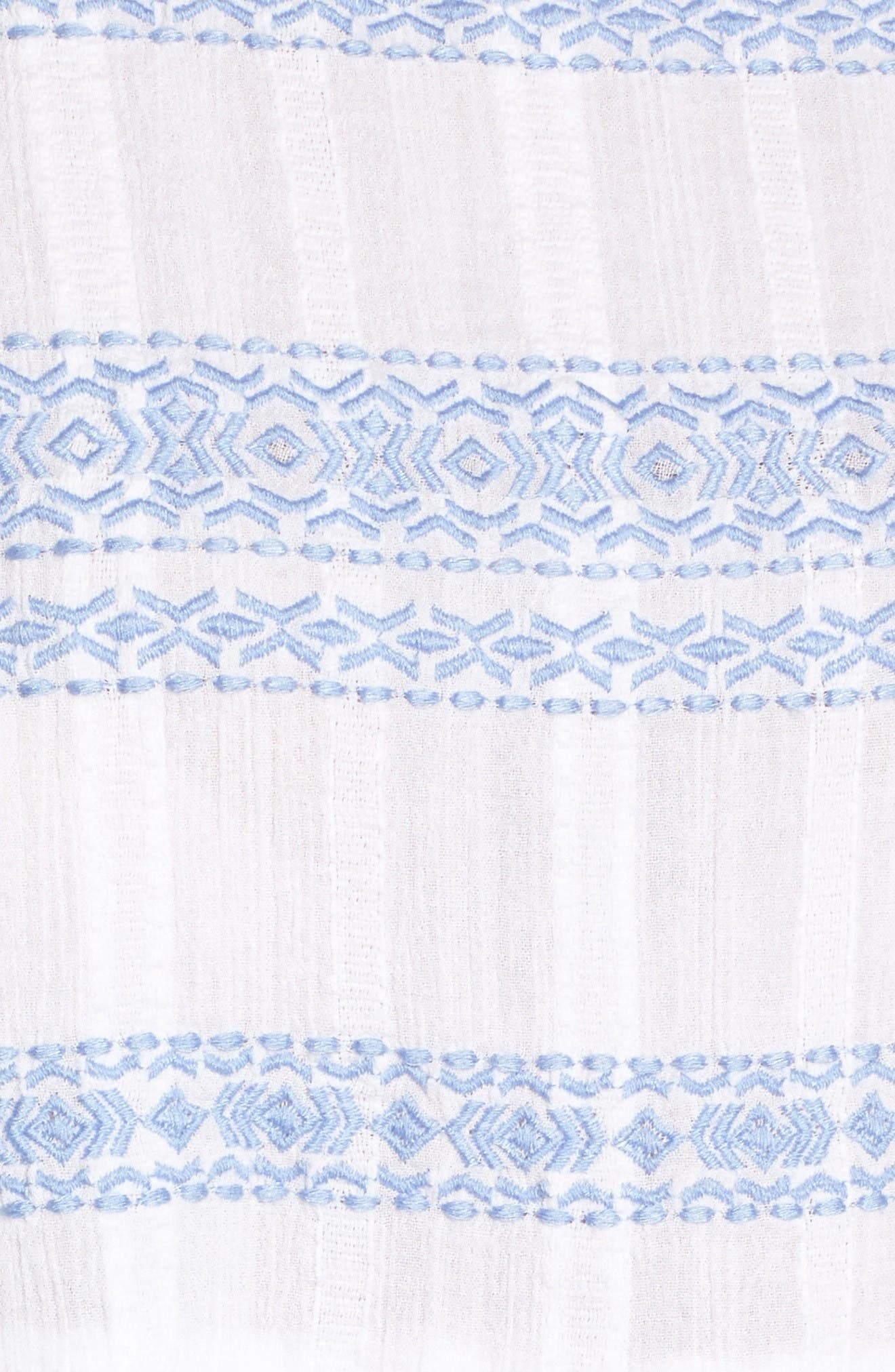 Alternate Image 5  - Caslon® Embroidered Babydoll Top (Regular & Petite)