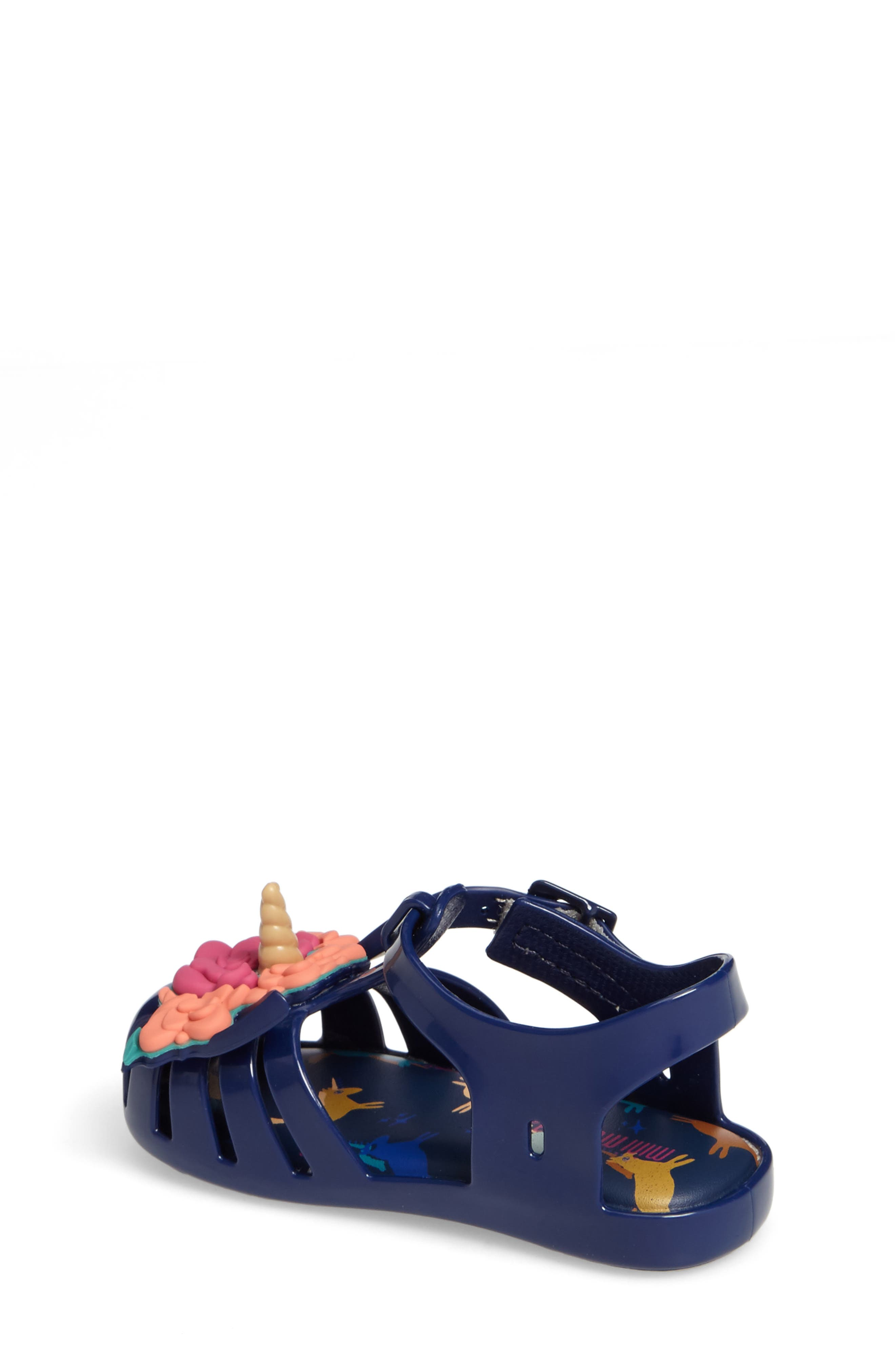 Alternate Image 2  - Mini Melissa Aranha Fabula Unicorn Sandal (Walker & Toddler)