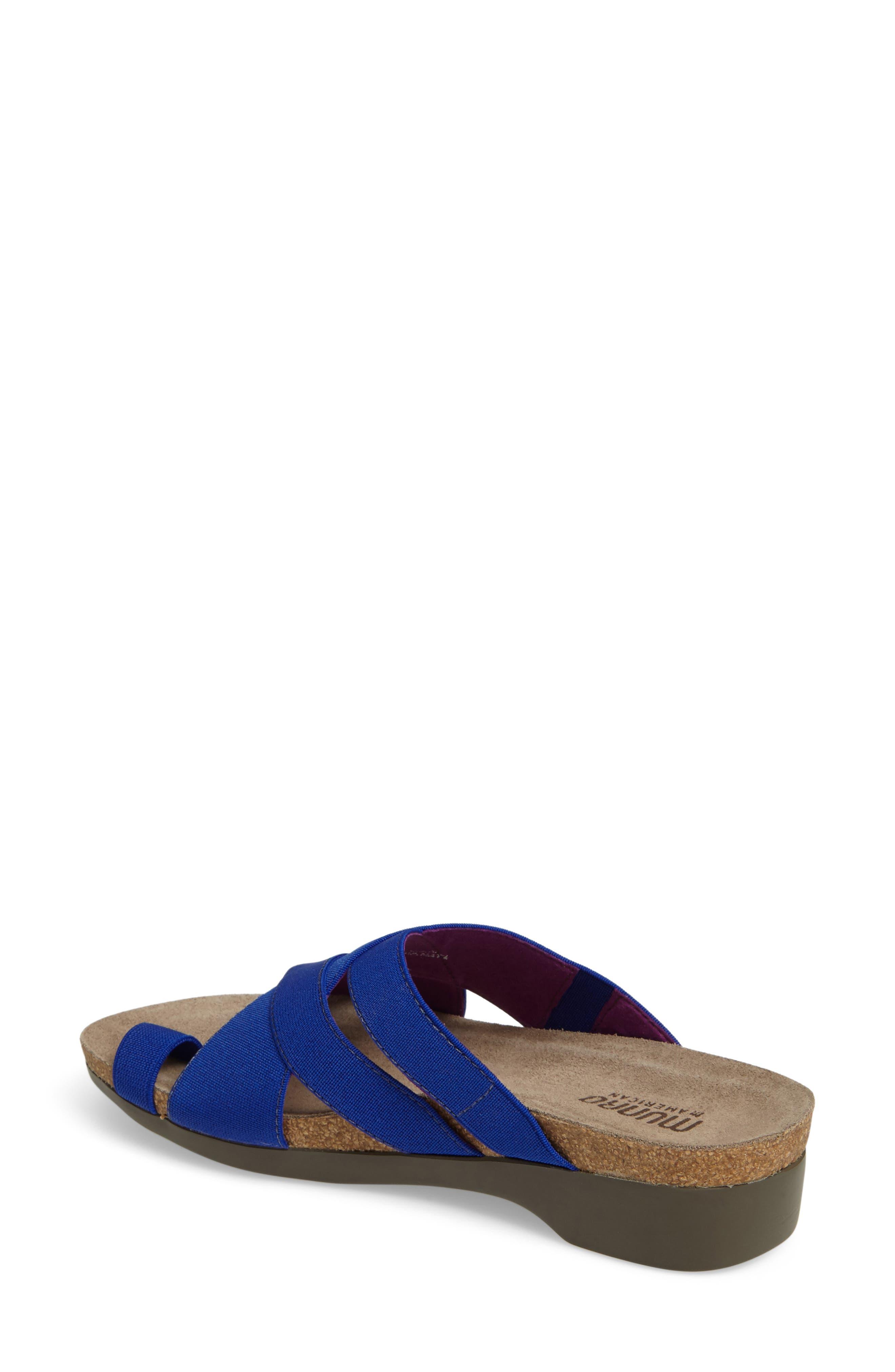 Delphi Slide Sandal,                             Alternate thumbnail 2, color,                             Blue Fabric