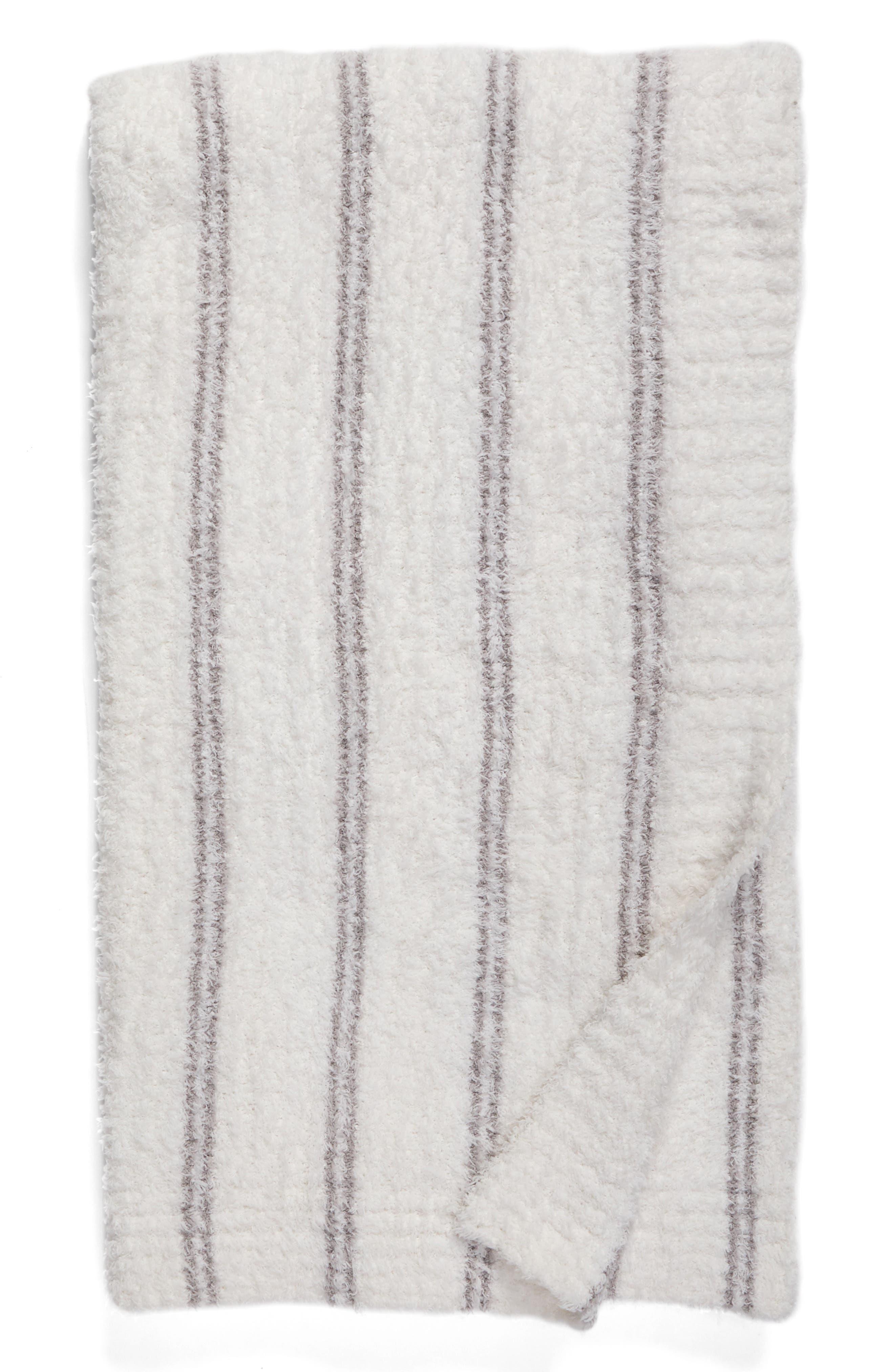 Alternate Image 1 Selected - Barefoot Dreams® Cozychic® Vertical Stripe Throw Blanket