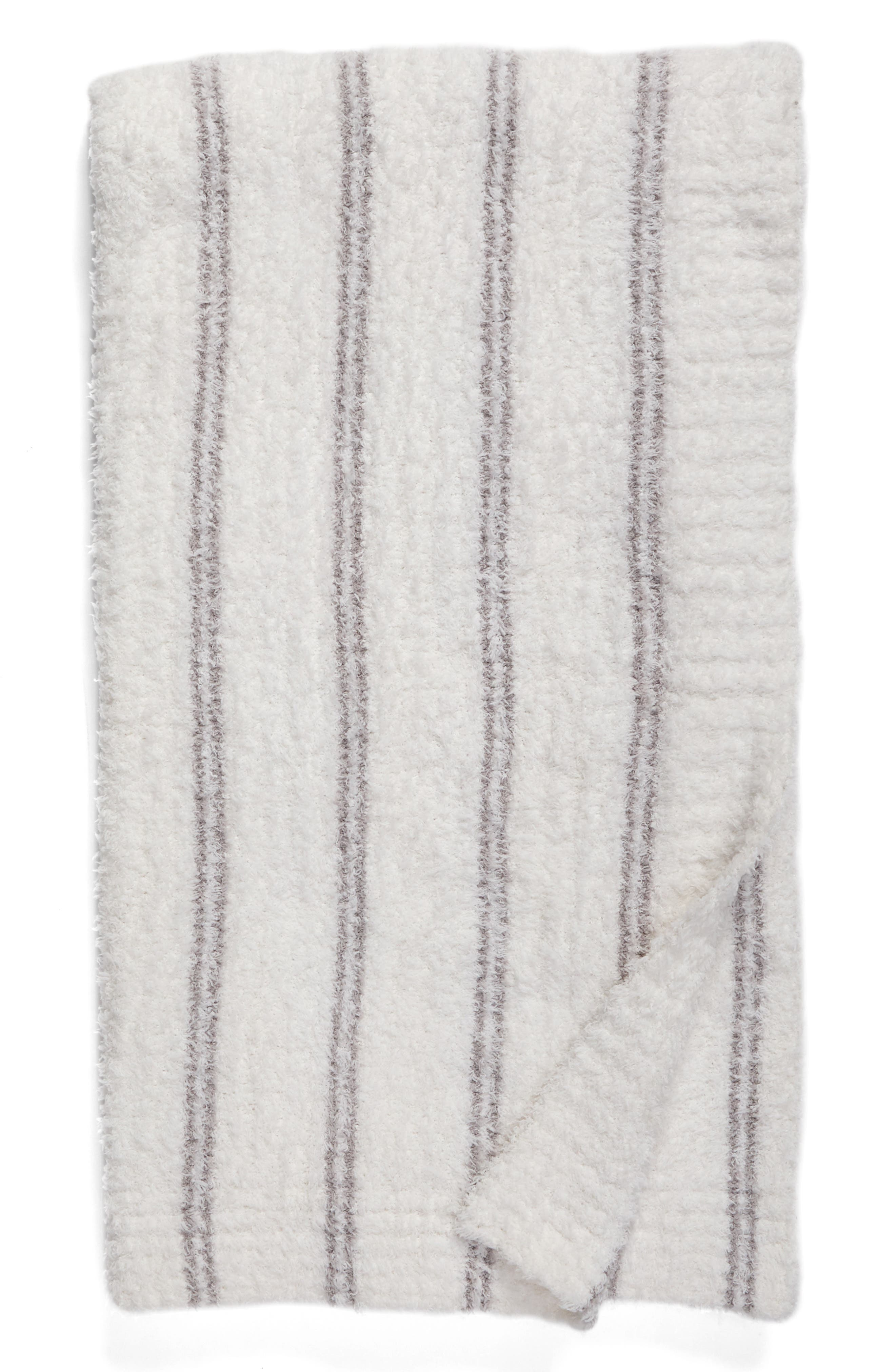 Main Image - Barefoot Dreams® Cozychic® Vertical Stripe Throw Blanket
