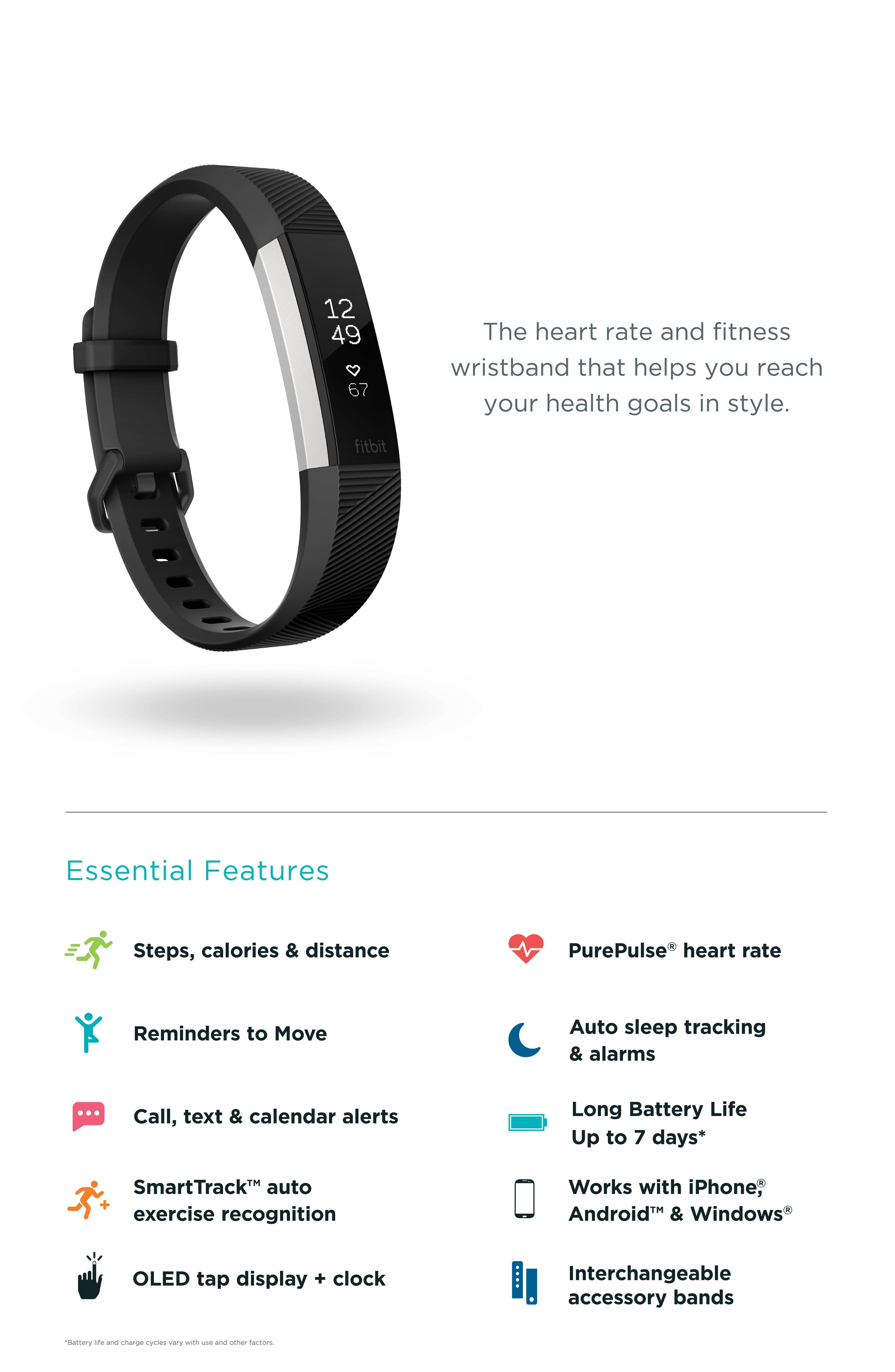 Alternate Image 4  - Fitbit Special Edition Alta HR Wireless Heart Rate and Fitness Tracker