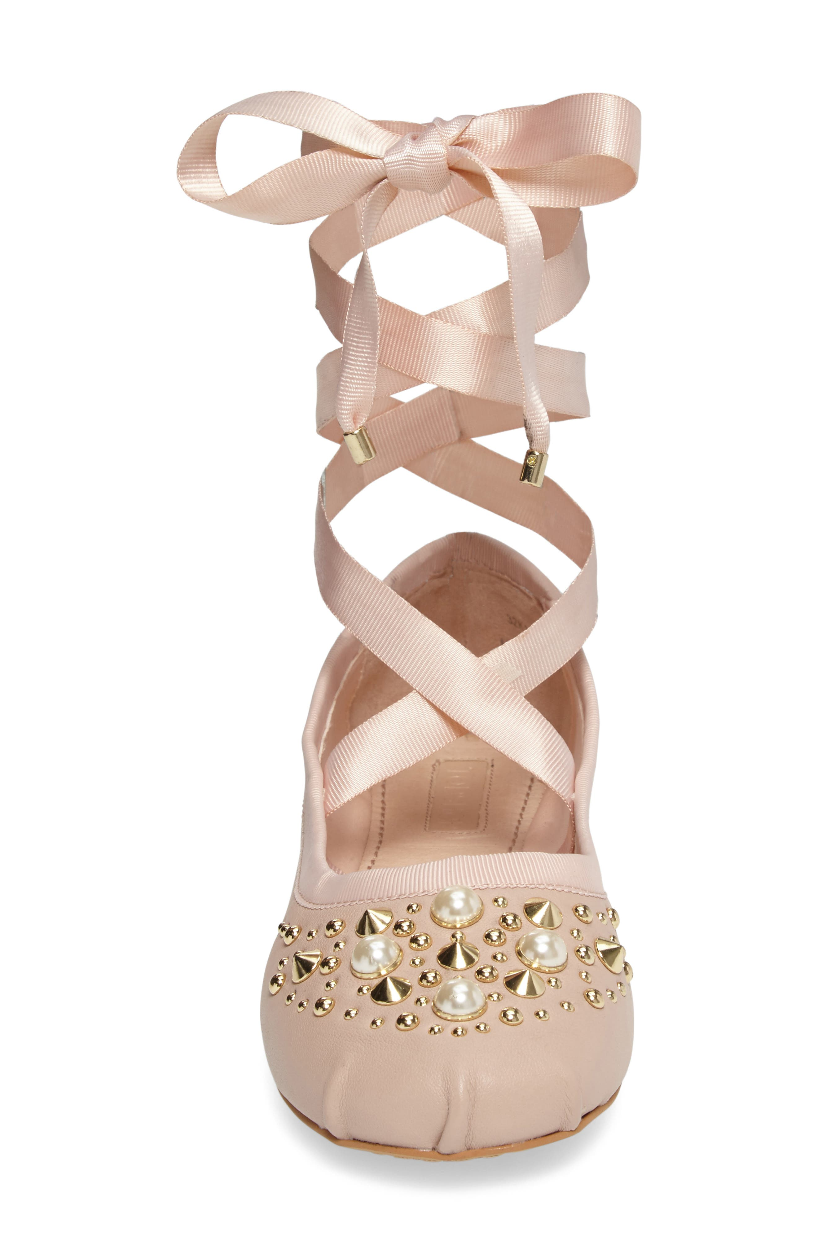 Alternate Image 4  - Topshop Kisses Ballet Flat (Women)