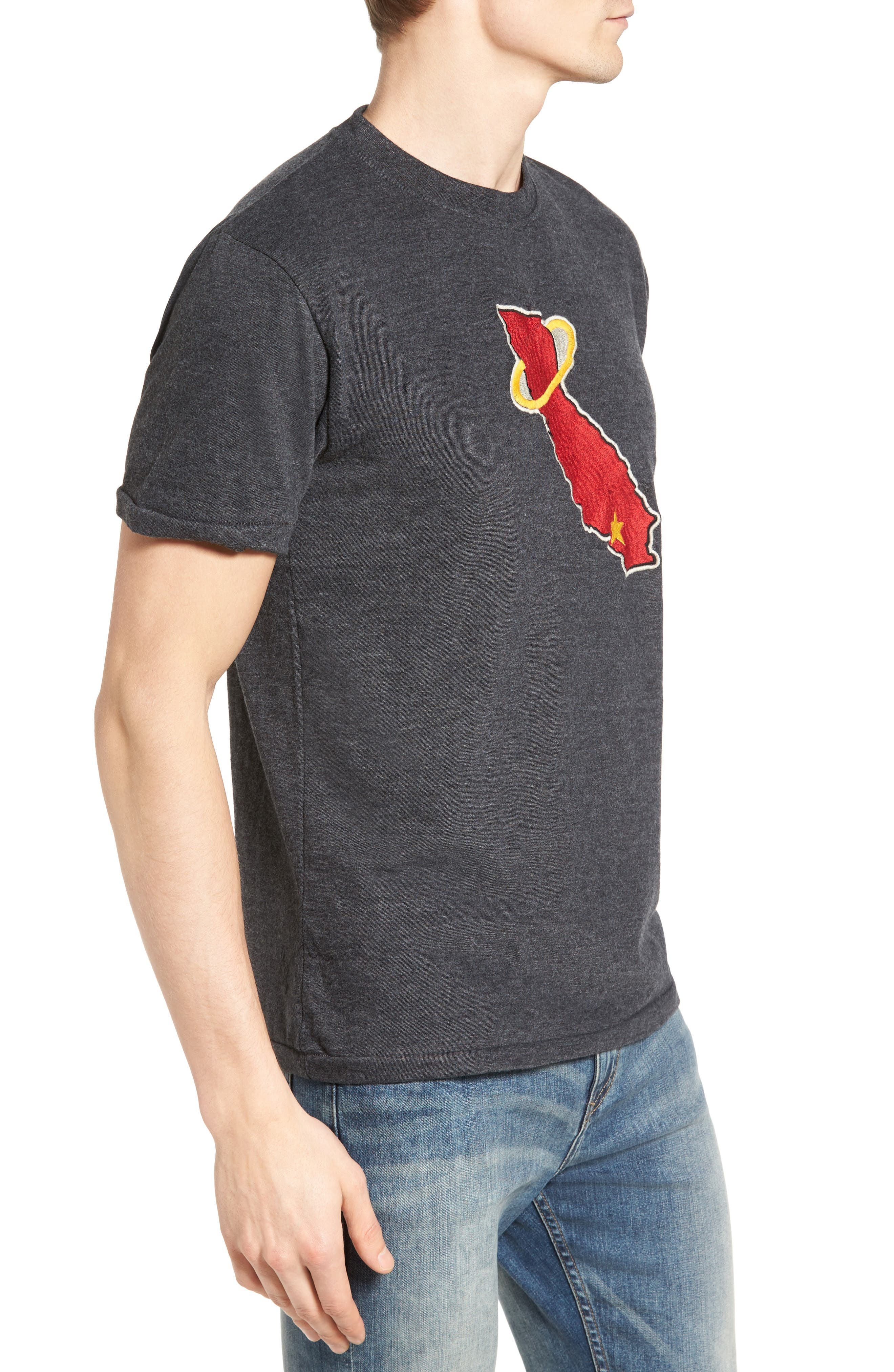 Hillwood Los Angeles Angels of Anaheim T-Shirt,                             Alternate thumbnail 3, color,                             Heather Black