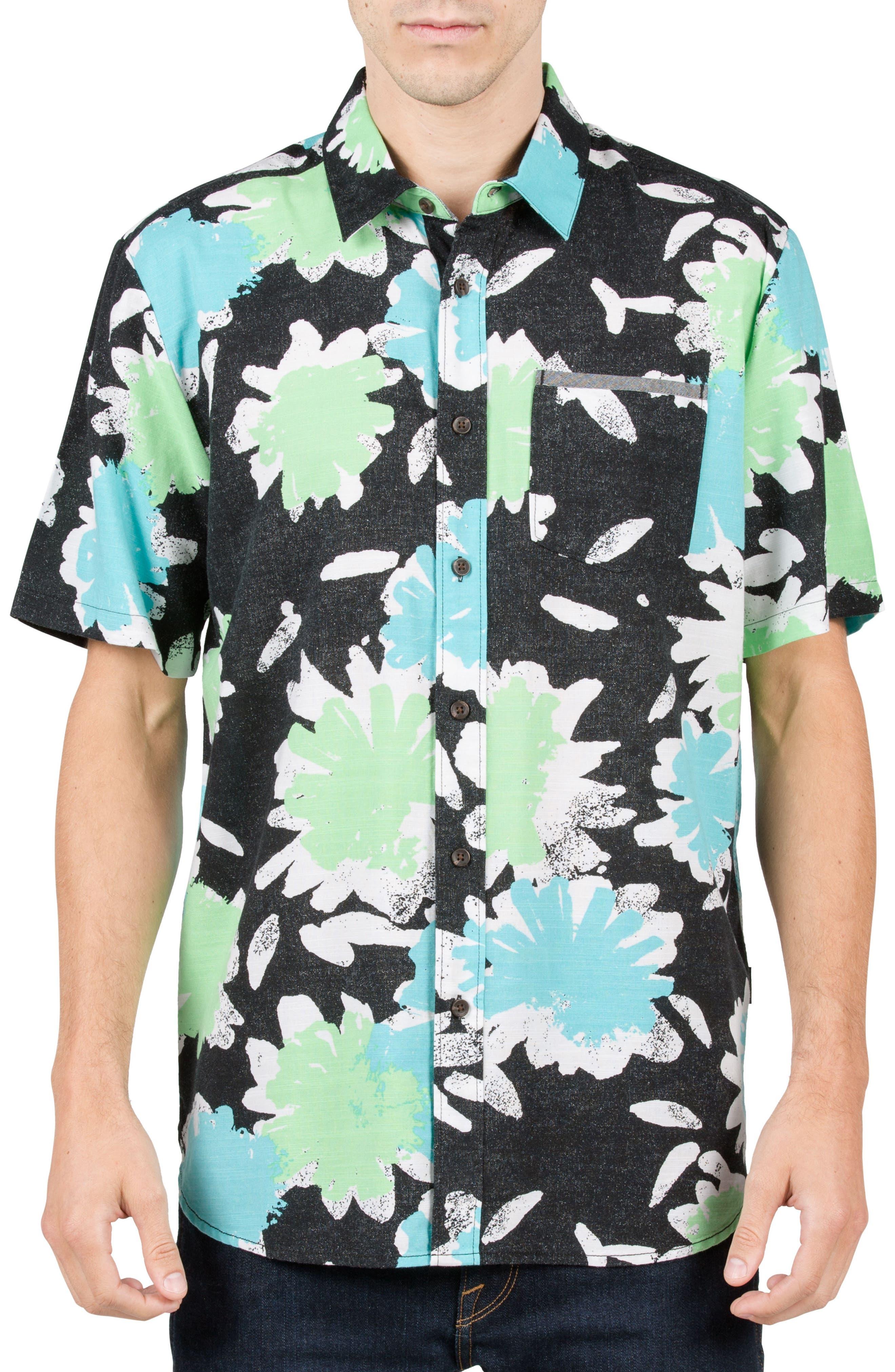 VOLCOM Ballast Cotton Blend Woven Shirt