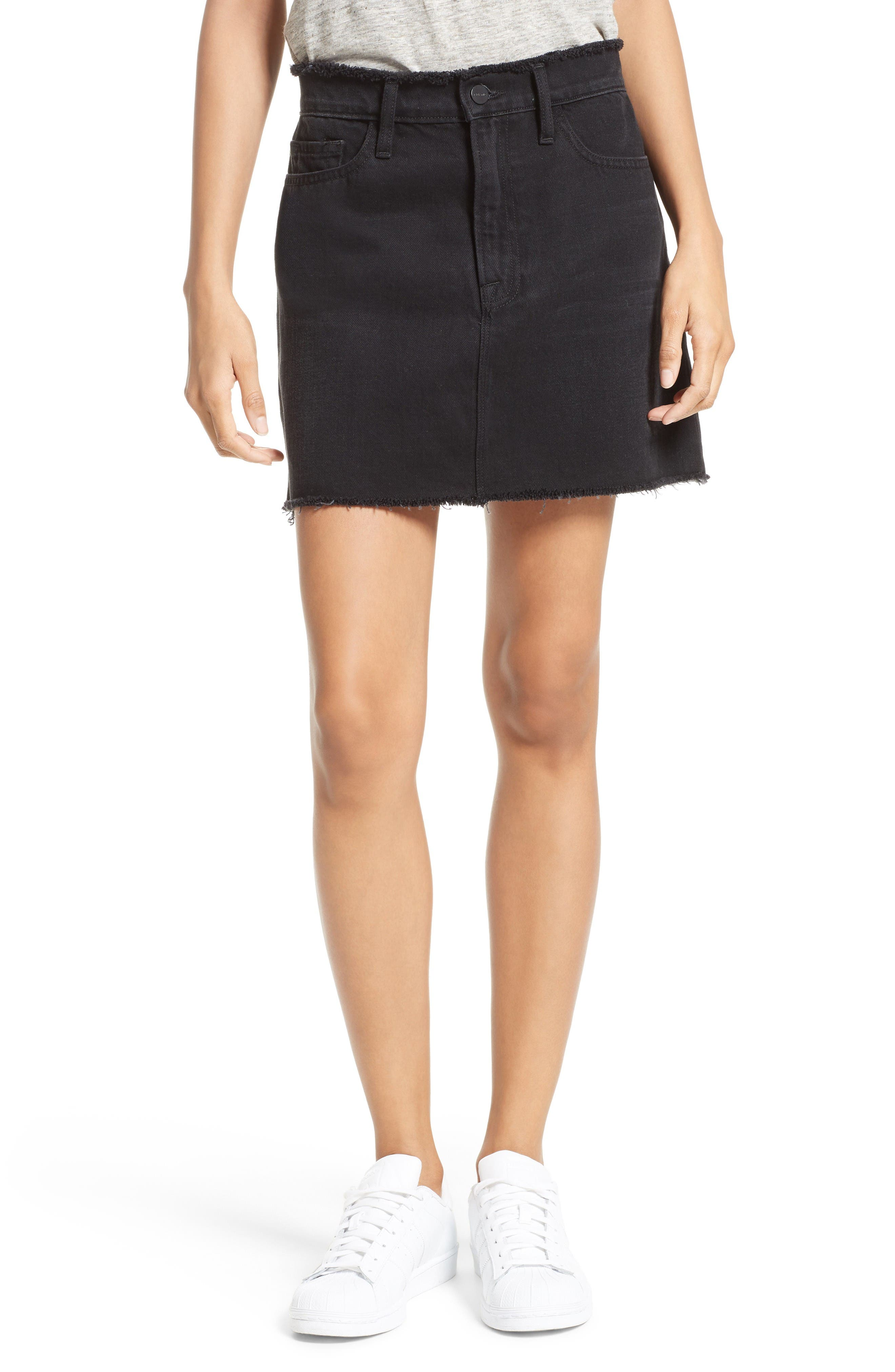 Main Image - FRAME Le Mini Denim Skirt