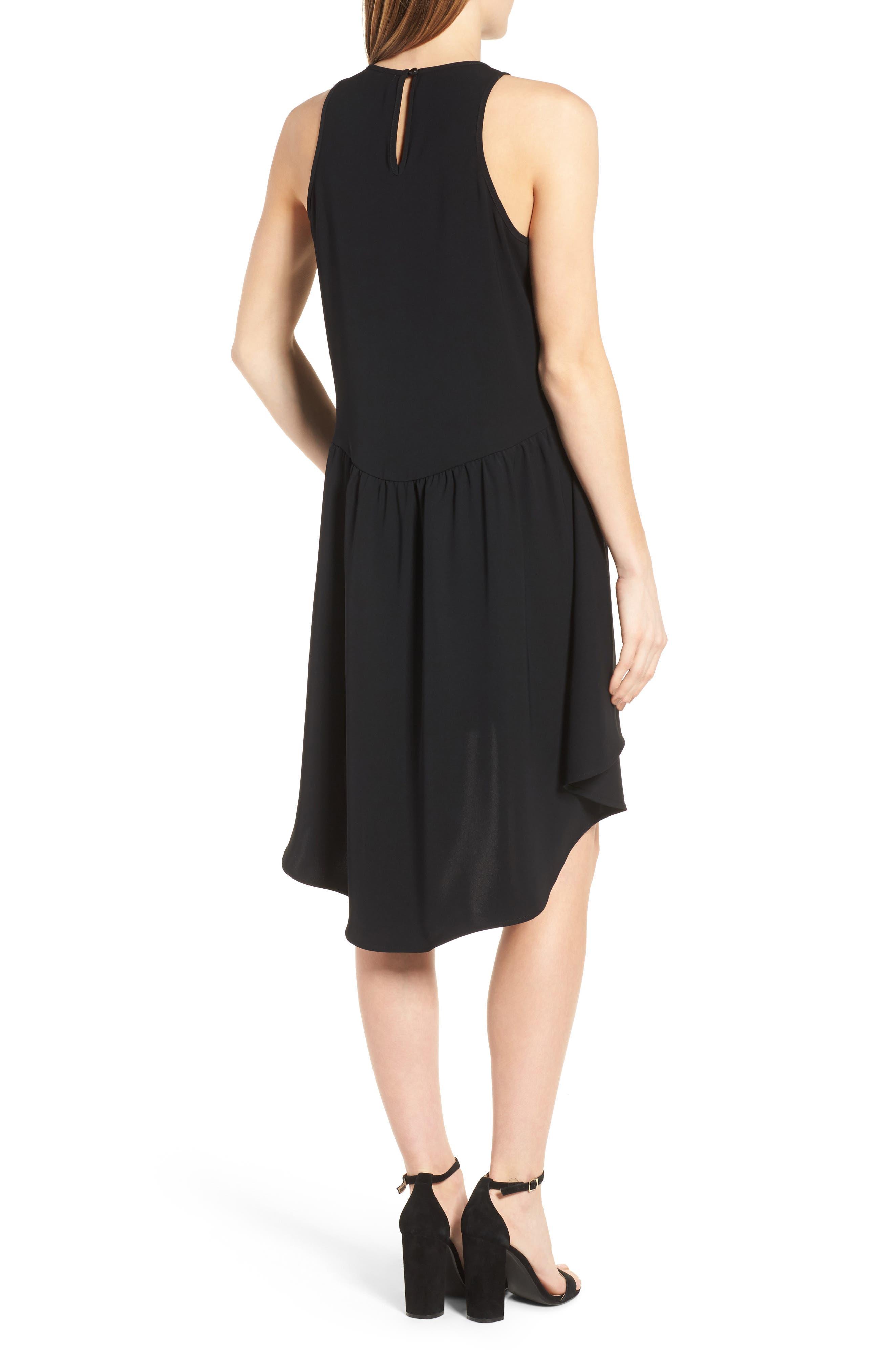 Alternate Image 4  - Pleione Ruffled High/Low Shift Dress (Regular & Petite)