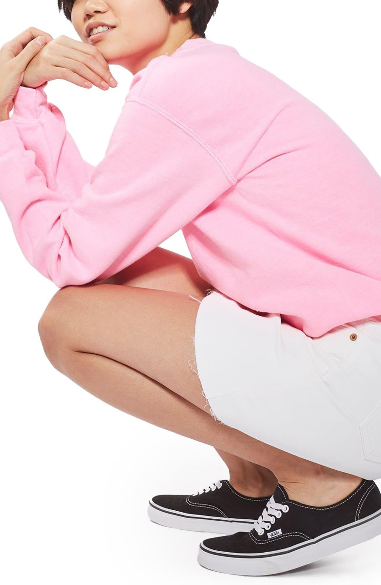 Alternate Image 5  - Topshop Coated Denim Miniskirt