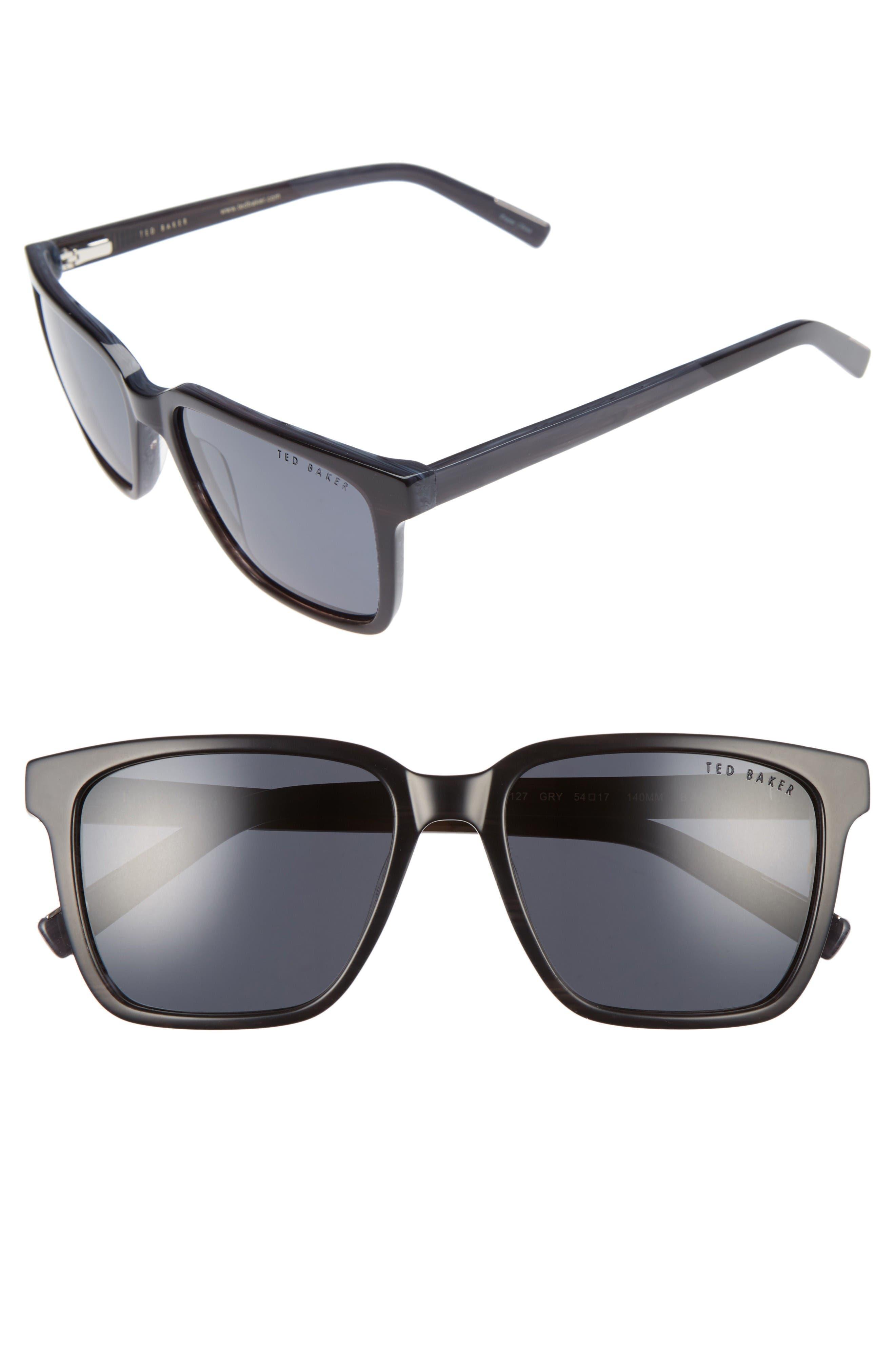 54mm Polarized Sunglasses,                             Main thumbnail 1, color,                             Grey