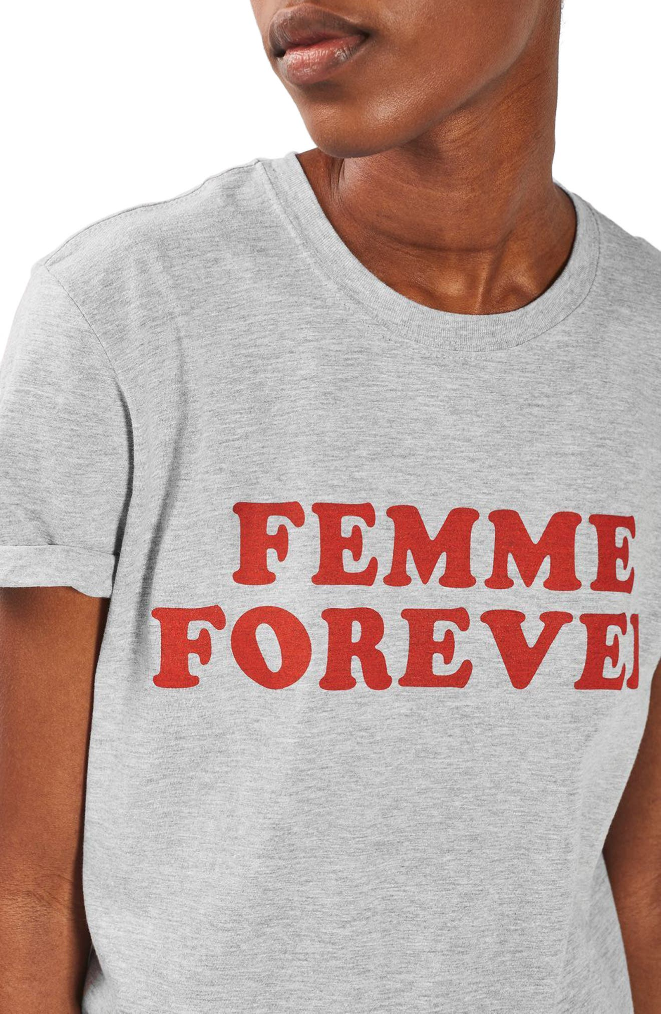 Alternate Image 4  - Topshop Femme Forever Tee