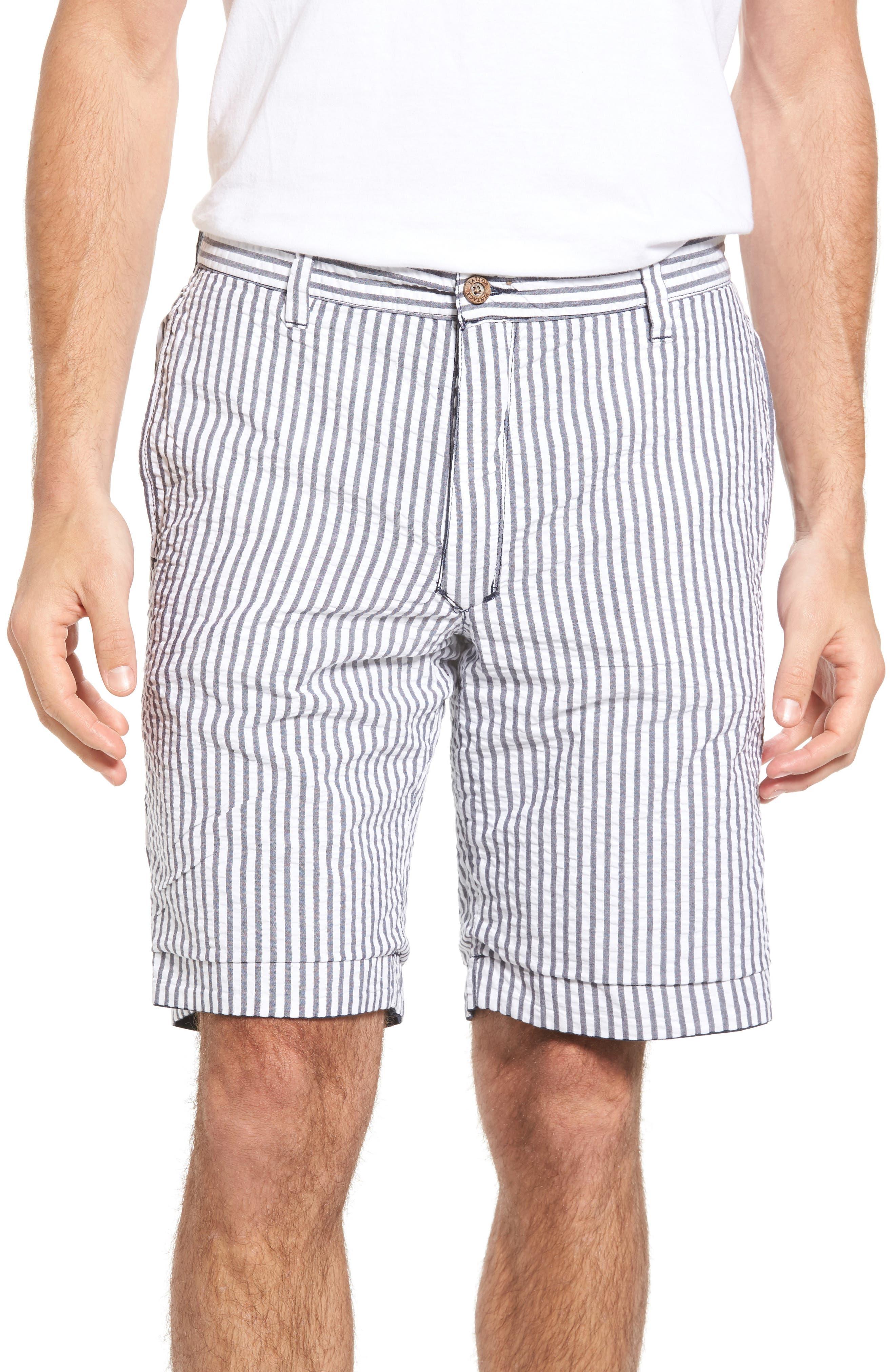 Reversible Walking Shorts,                             Alternate thumbnail 4, color,                             Navy/ Seersucker/ Navy