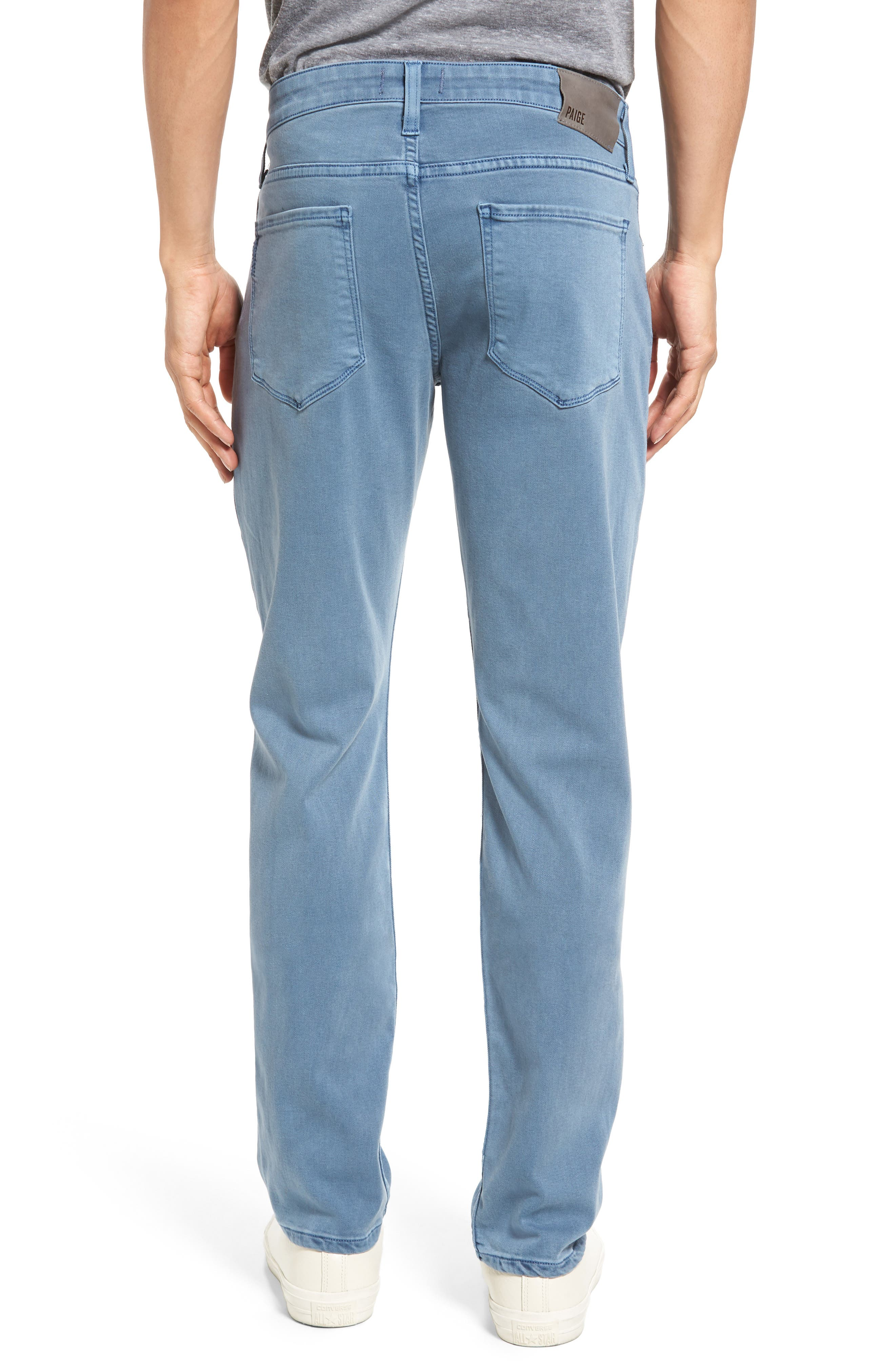 Transcend - Lennox Slim Fit Jeans,                             Alternate thumbnail 2, color,                             Seascape