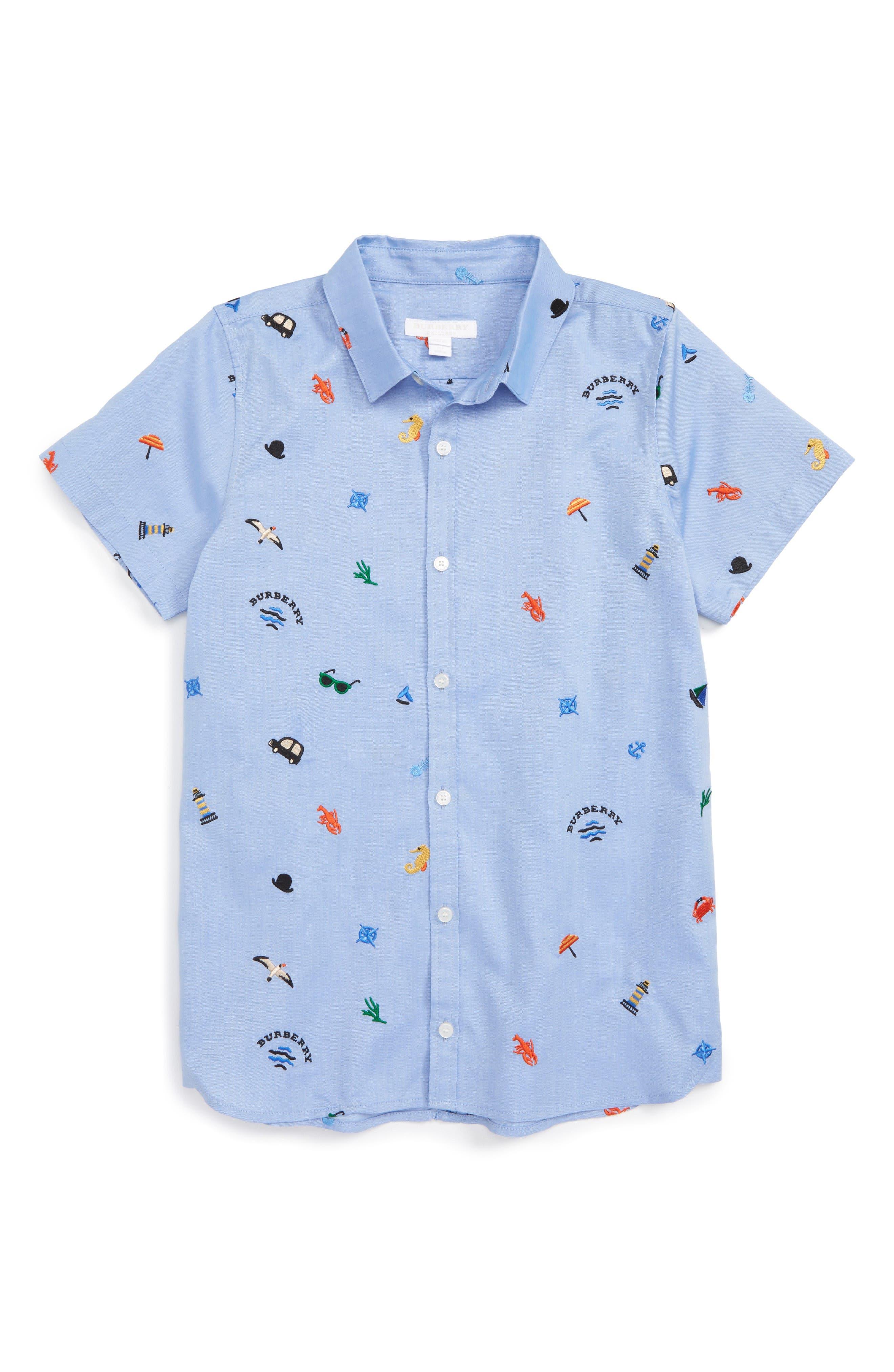 Burberry Clarkey Embroidered Woven Shirt (Little Boys & Big Boys)