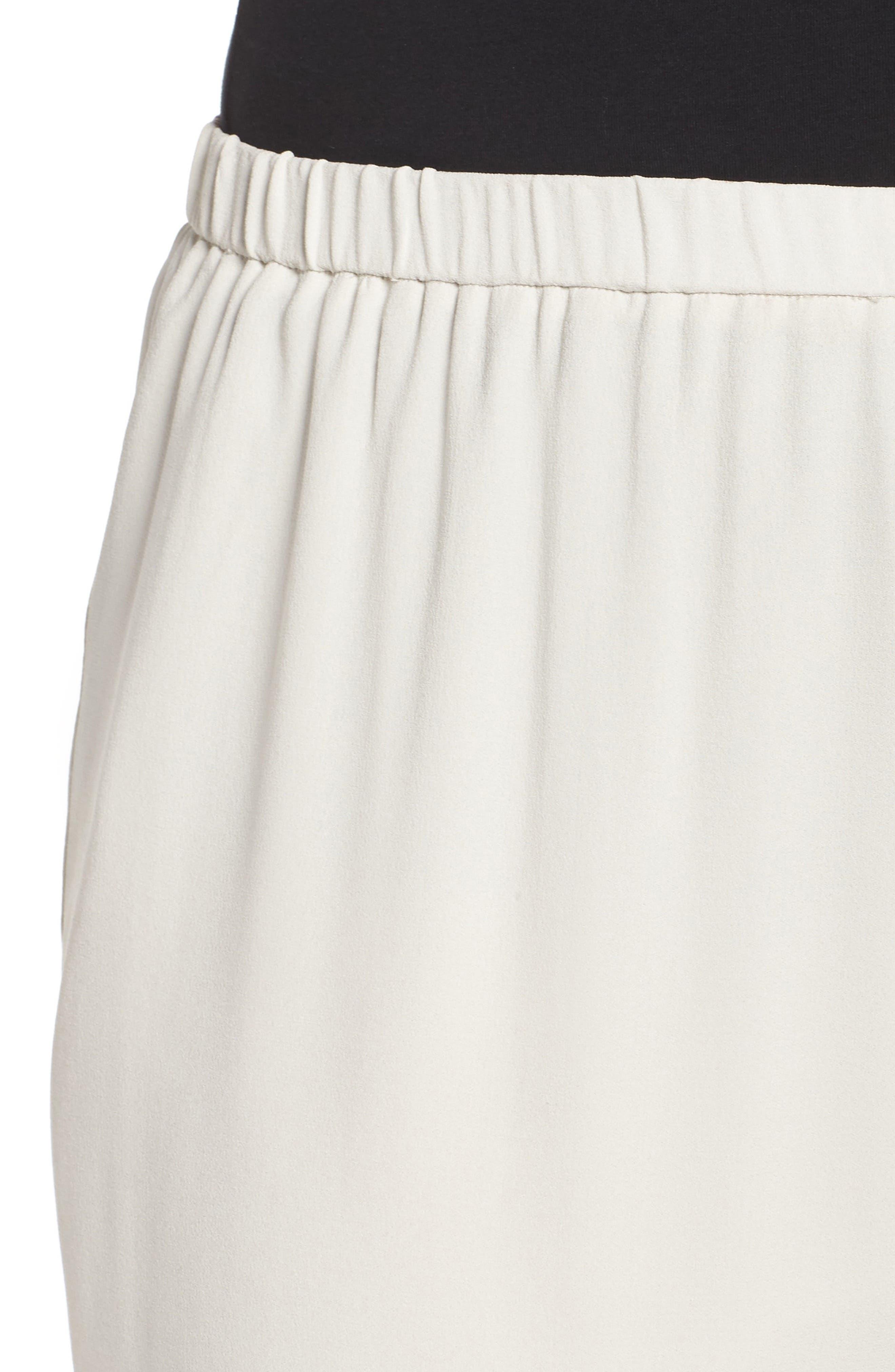Alternate Image 4  - Eileen Fisher Silk Georgette Crop Pants (Plus Size)