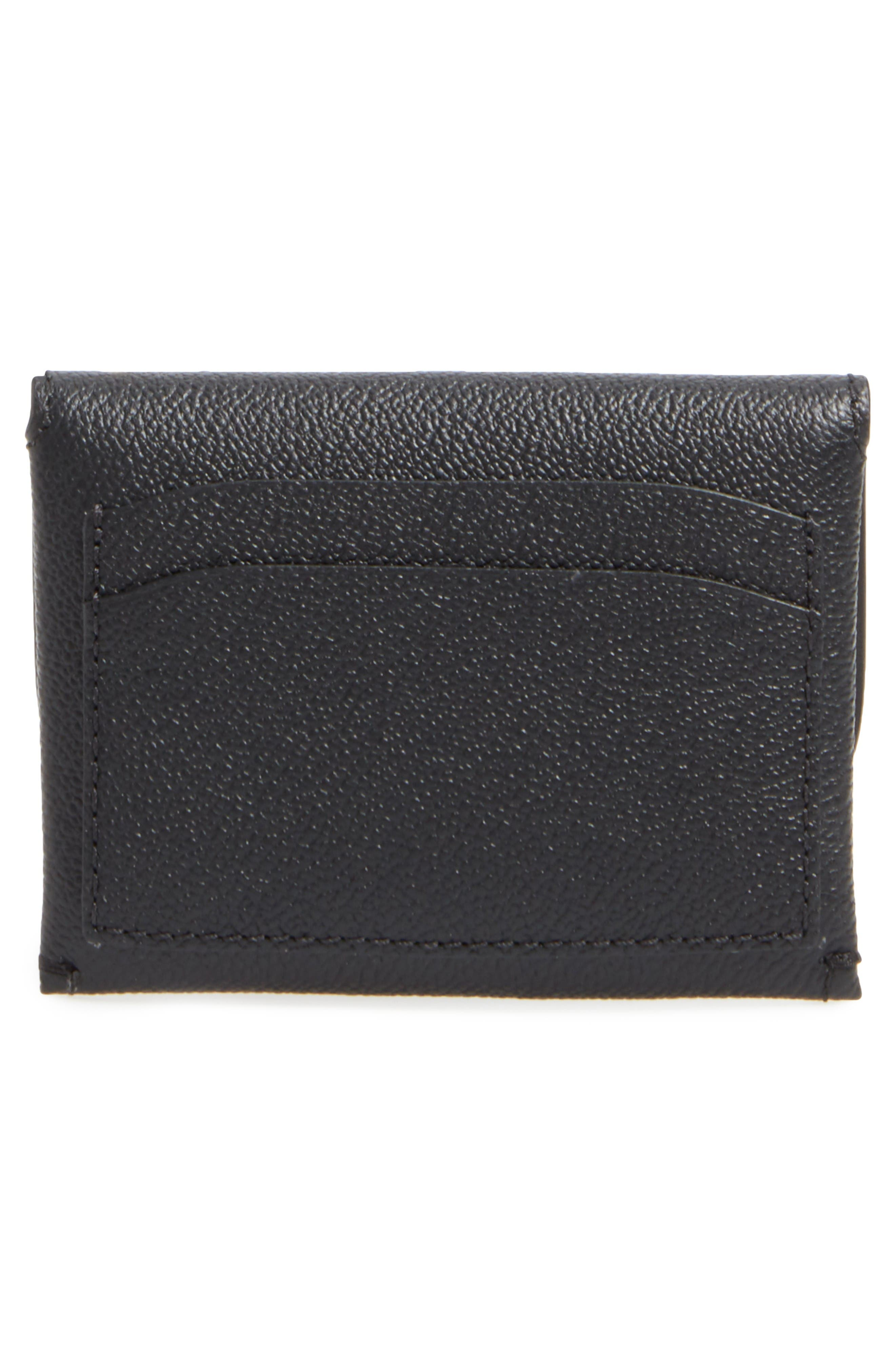 Mayfield Leather Card Case,                             Alternate thumbnail 3, color,                             Black