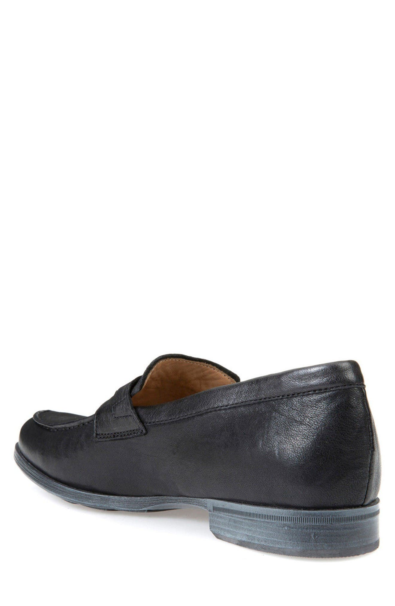 Besmington 6 Penny Loafer,                             Alternate thumbnail 2, color,                             Black Leather