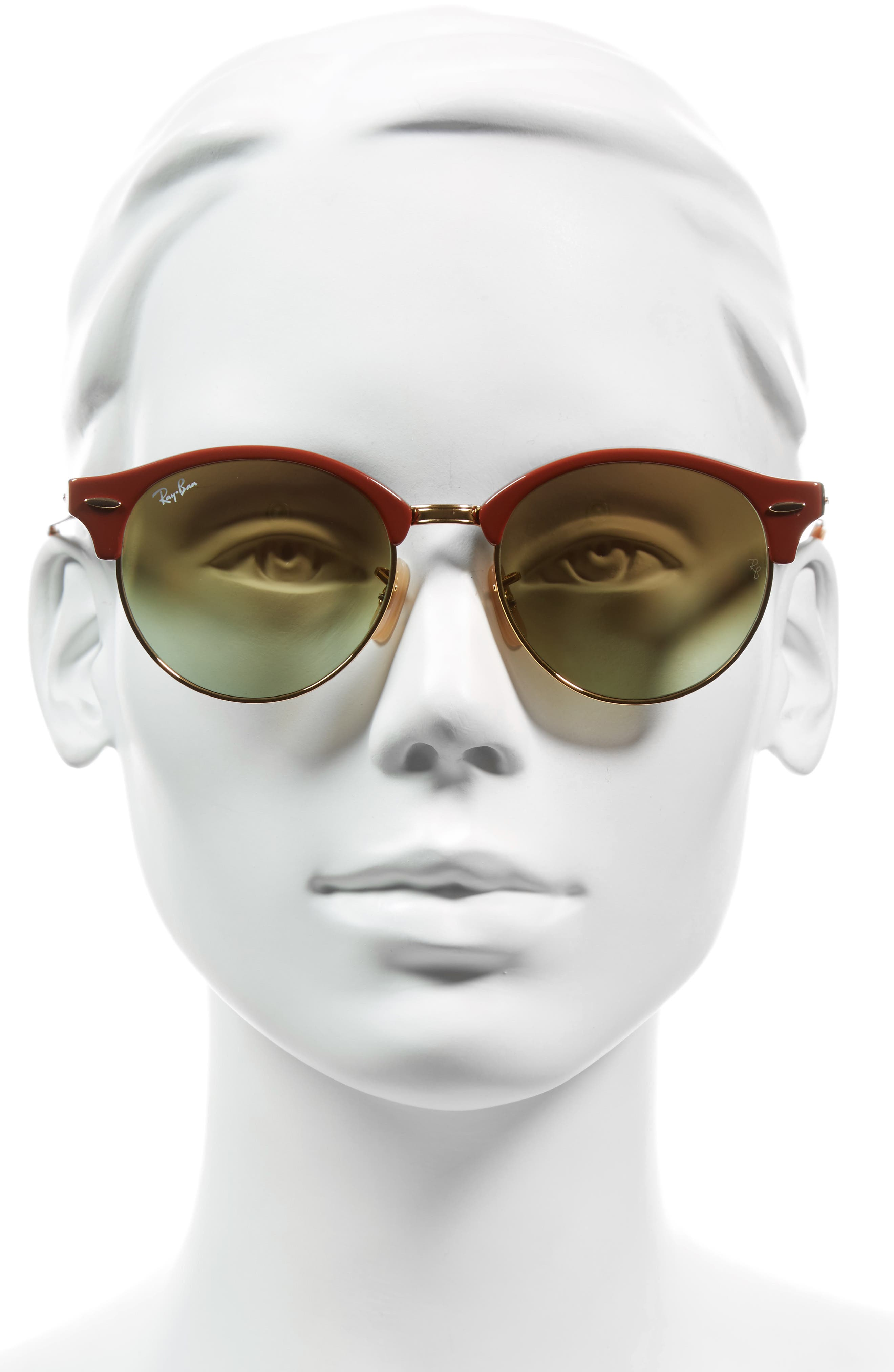 Clubround 51mm Round Sunglasses,                             Alternate thumbnail 2, color,                             Gold