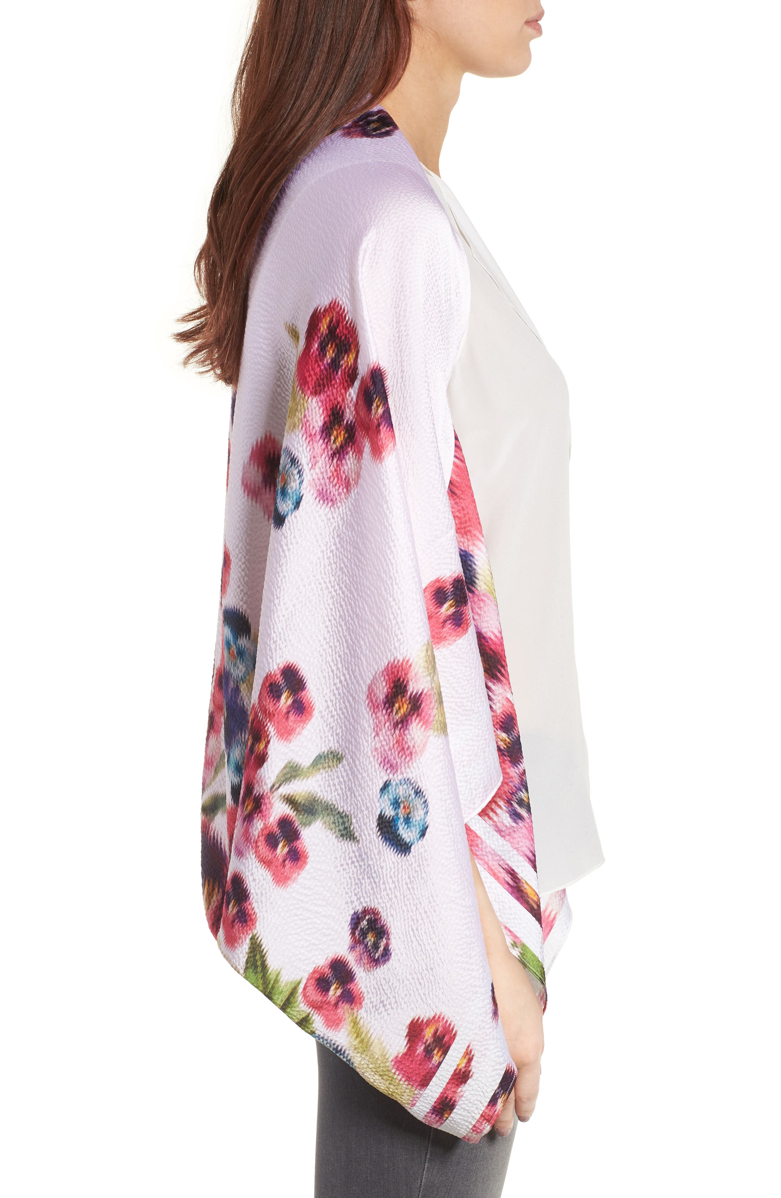 Alternate Image 3  - Ted Baker London Ellila Expressive Pansy Floral Cape Scarf
