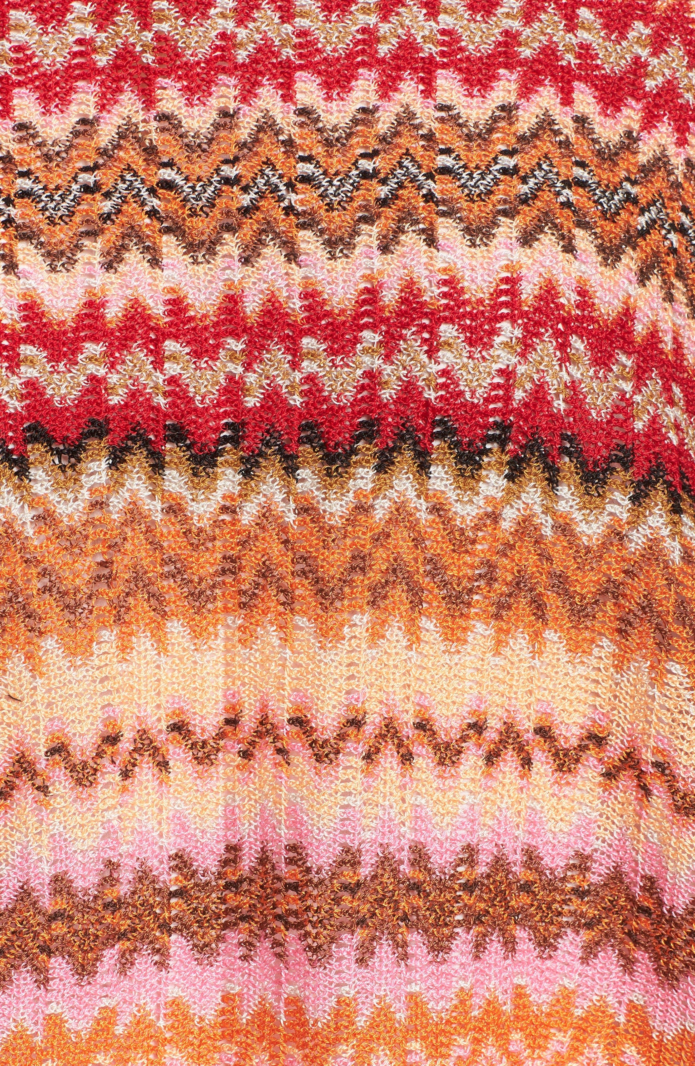 Fringe Poncho,                             Alternate thumbnail 5, color,                             Pink/ Red Multi