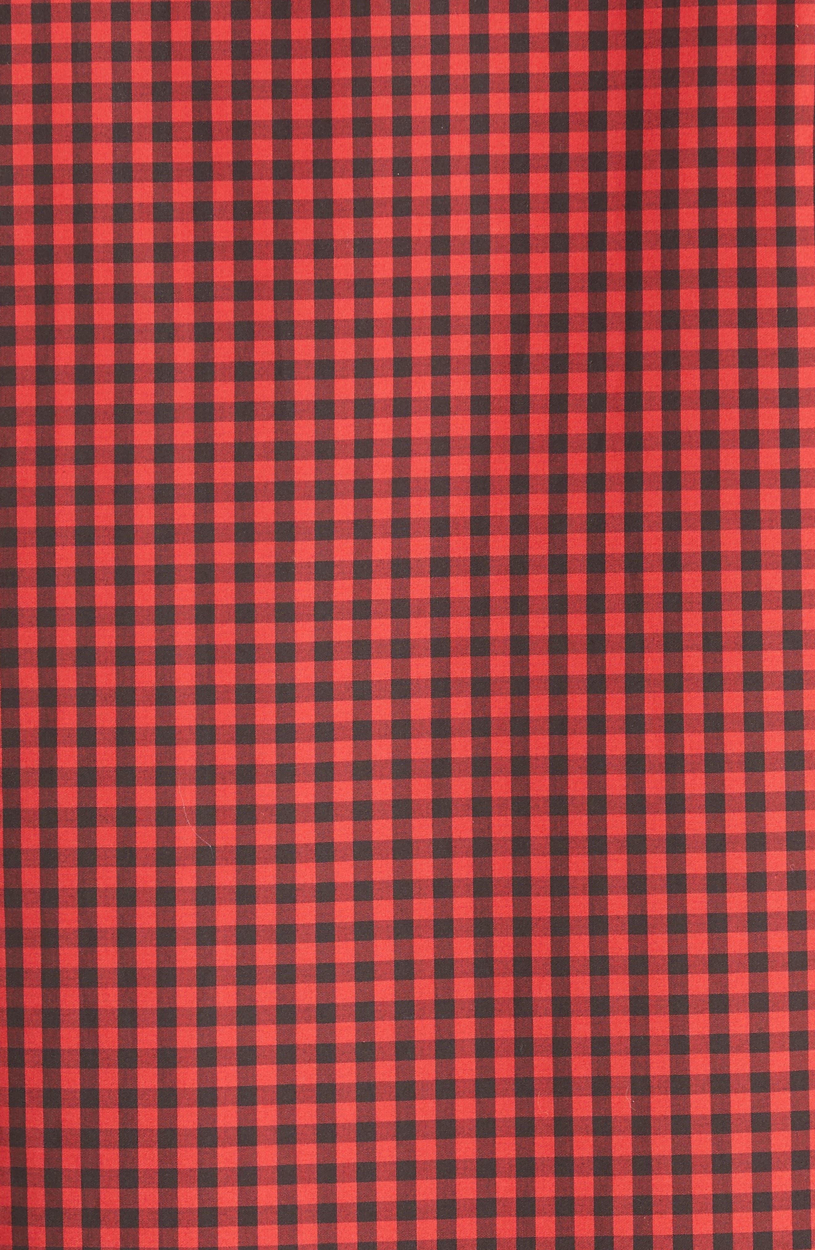 Alternate Image 5  - Givenchy Extra Trim Fit Star Gingham Sport Shirt