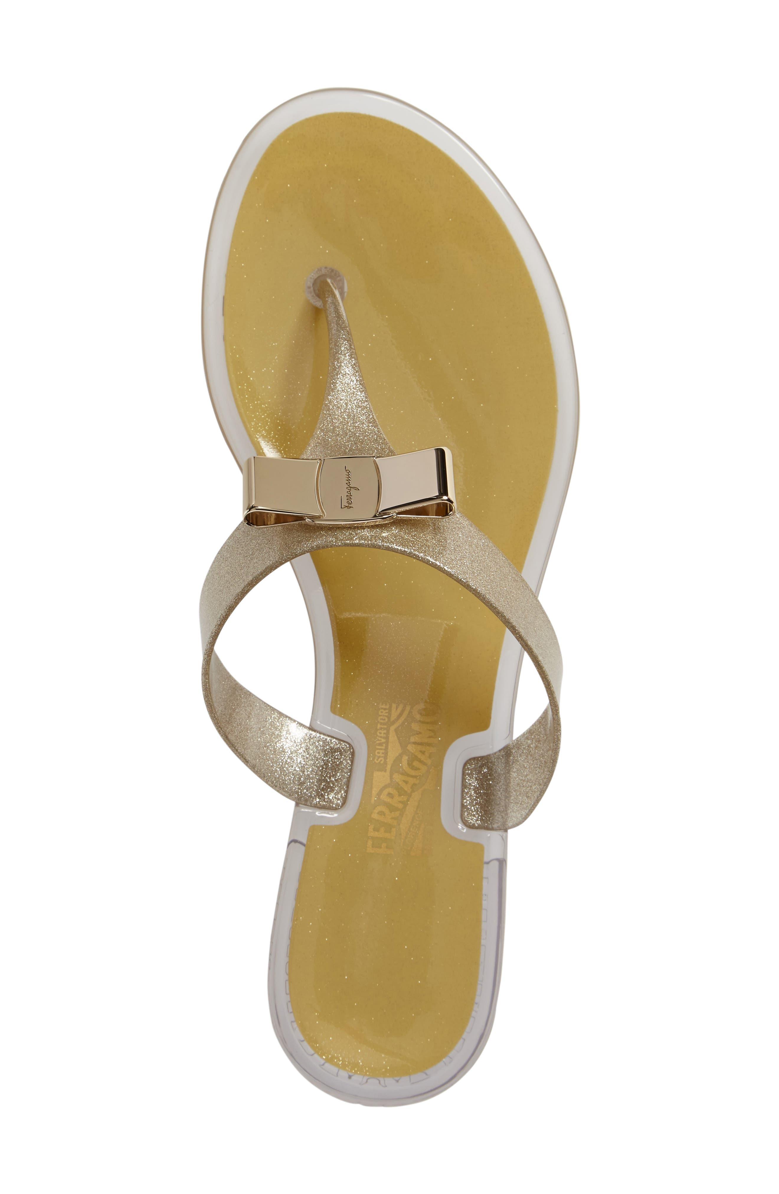 Alternate Image 3  - Salvatore Ferragamo Jelly Flat Bow Sandal (Women)