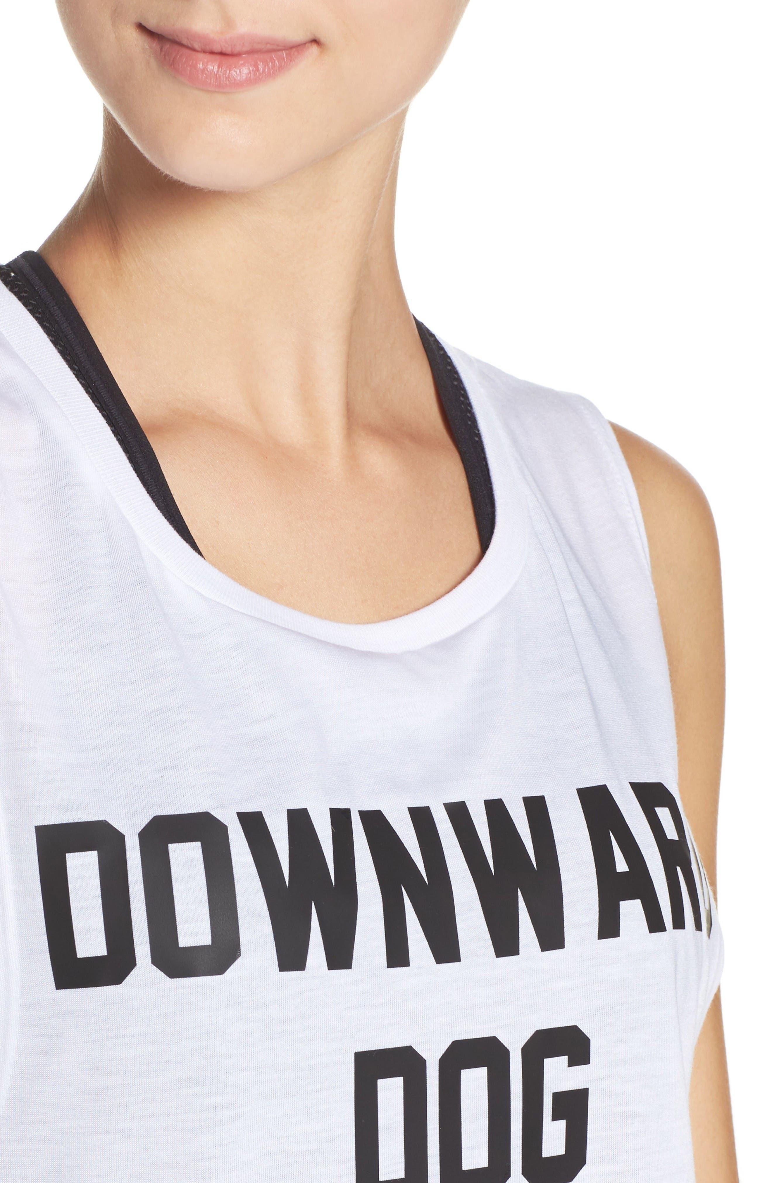 Downward Dog Tank,                             Alternate thumbnail 4, color,                             White