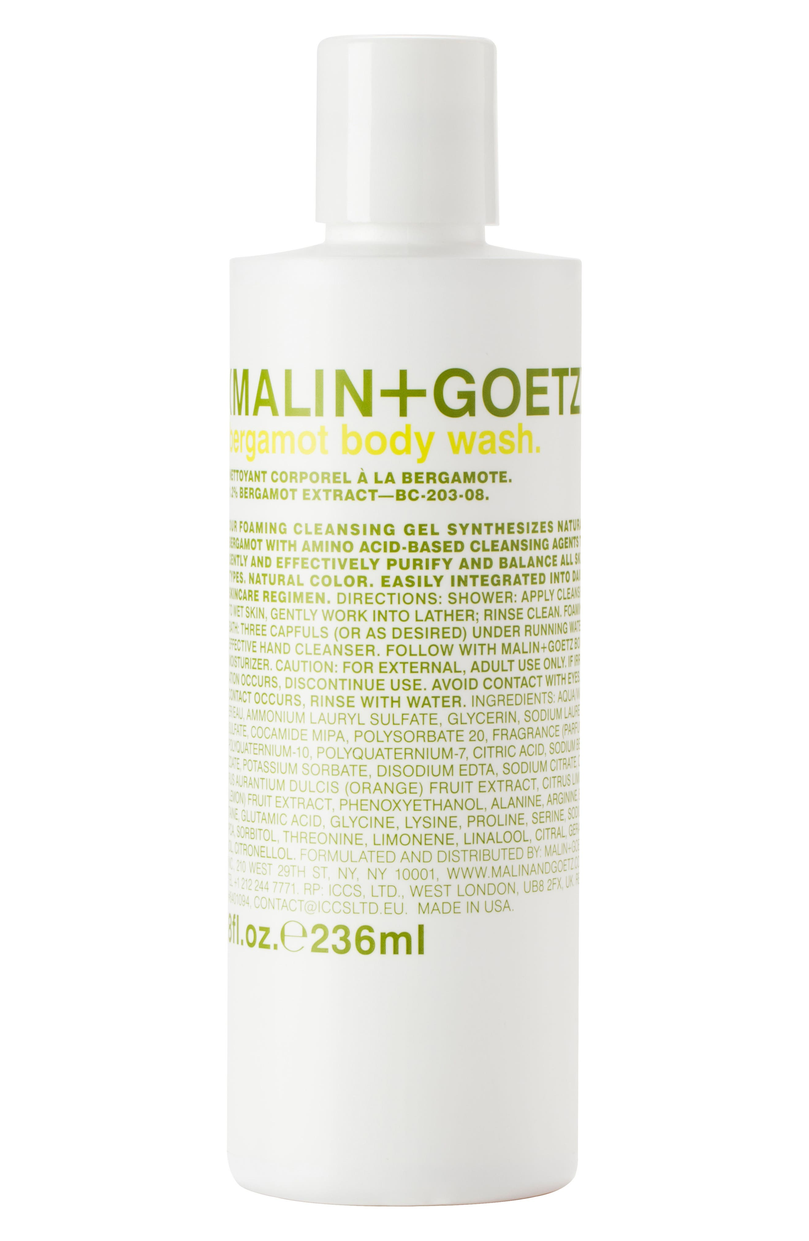 Alternate Image 1 Selected - SPACE.NK.apothecary Malin + Goetz Bergamot Body Wash