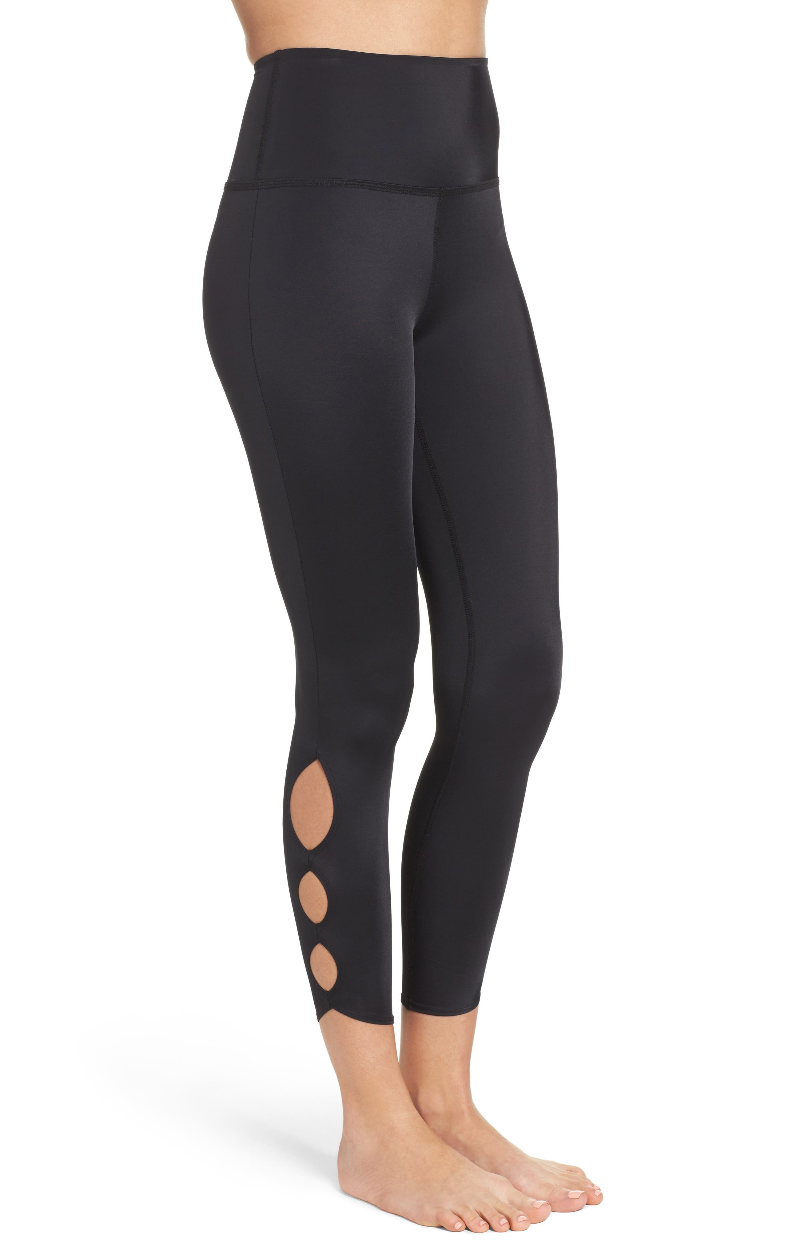 Alternate Image 3  - Beyond Yoga Compression Lux High Waist Half Moon Crop Leggings