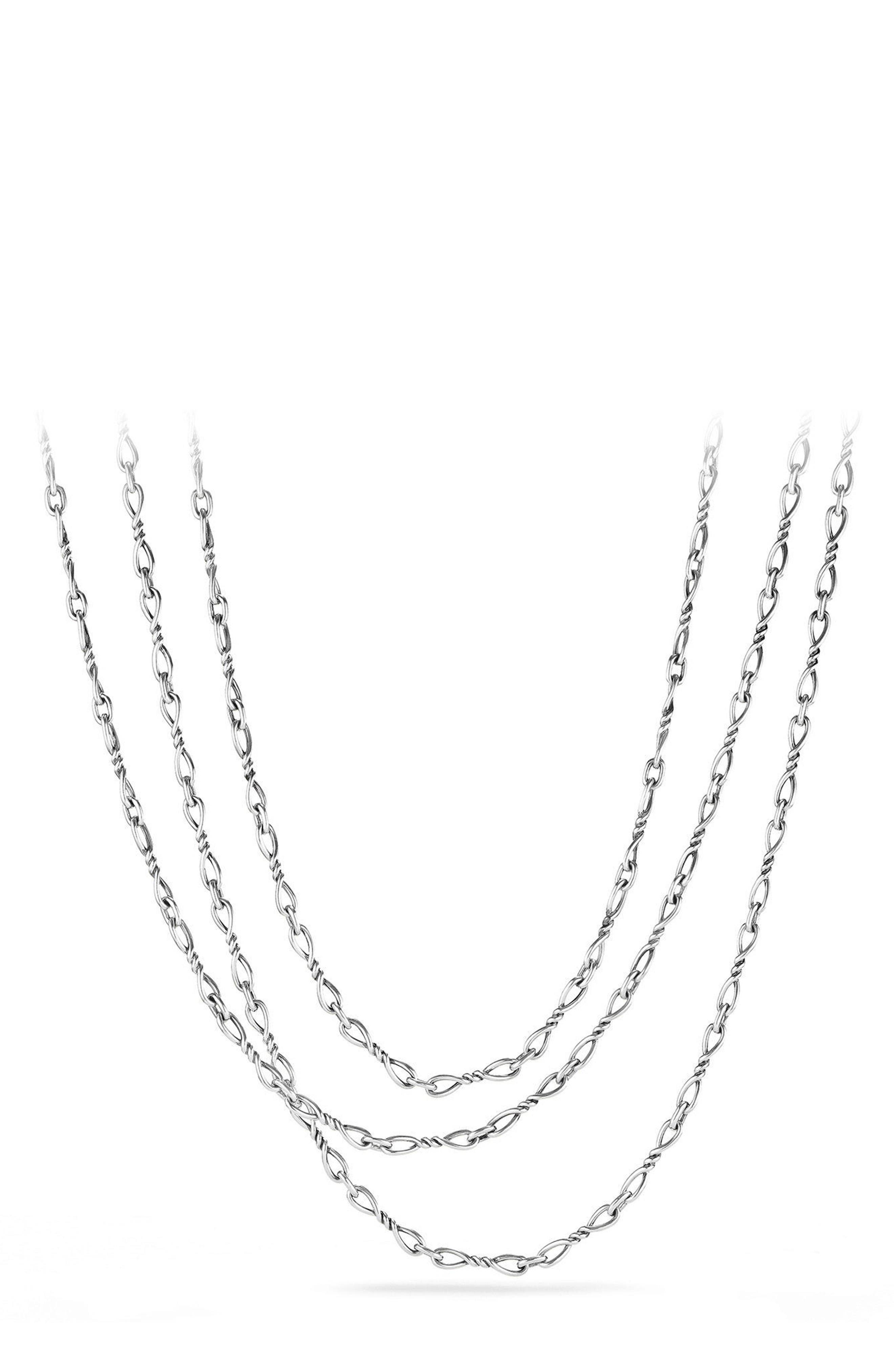 Continuance Chain Necklace,                             Main thumbnail 1, color,                             Silver