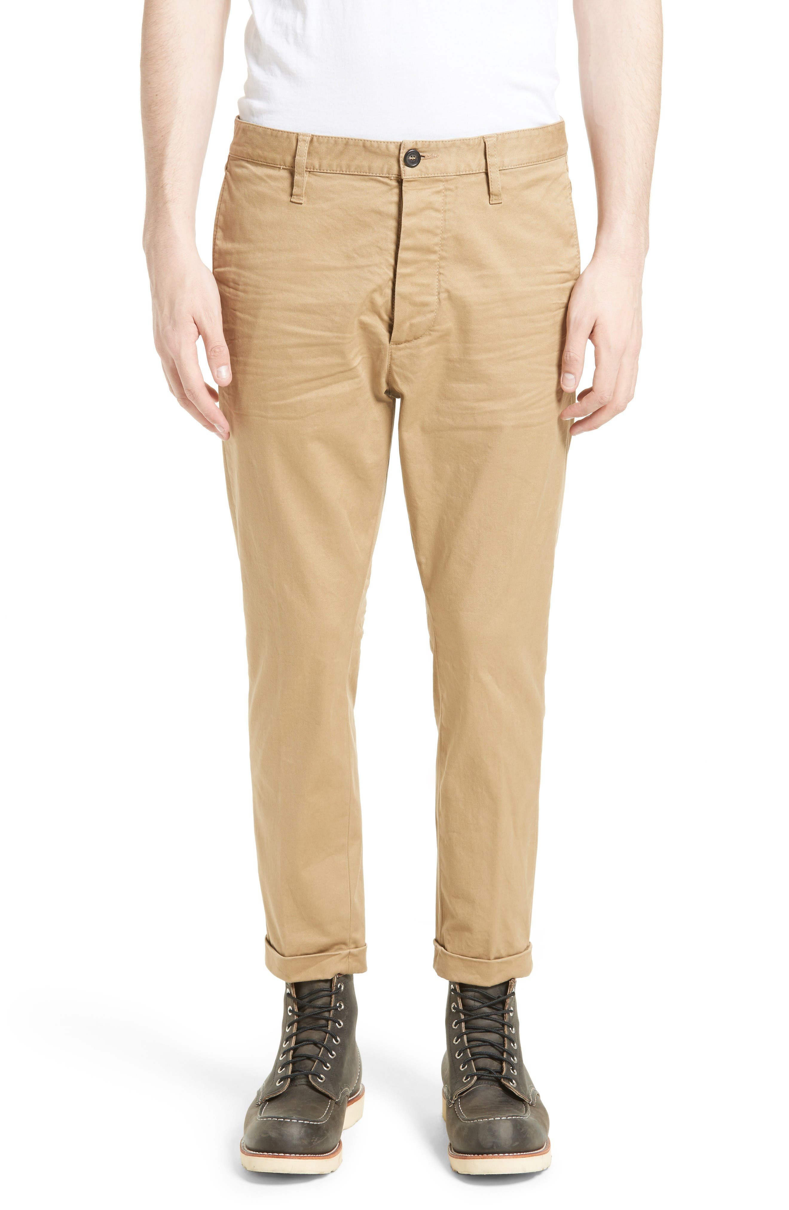 Roll Cuff Chinos,                         Main,                         color, Beige