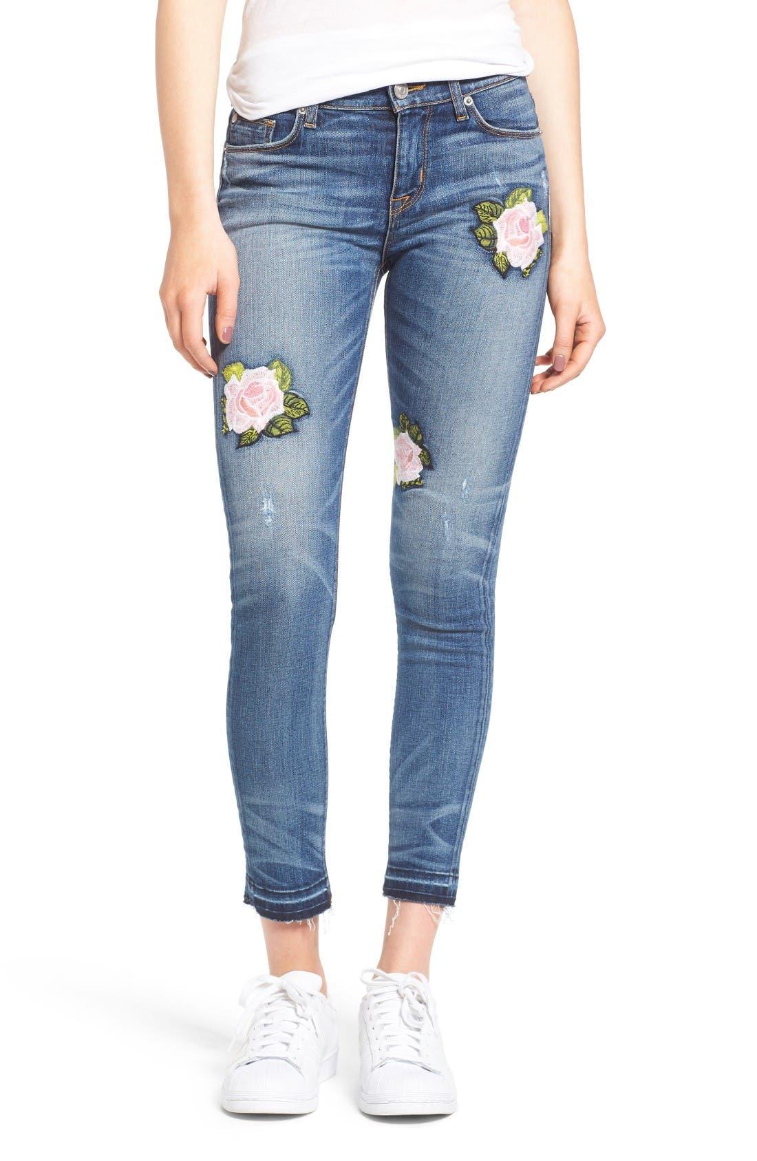 Hudson Jeans Nico Released Hem Ankle Skinny Jeans